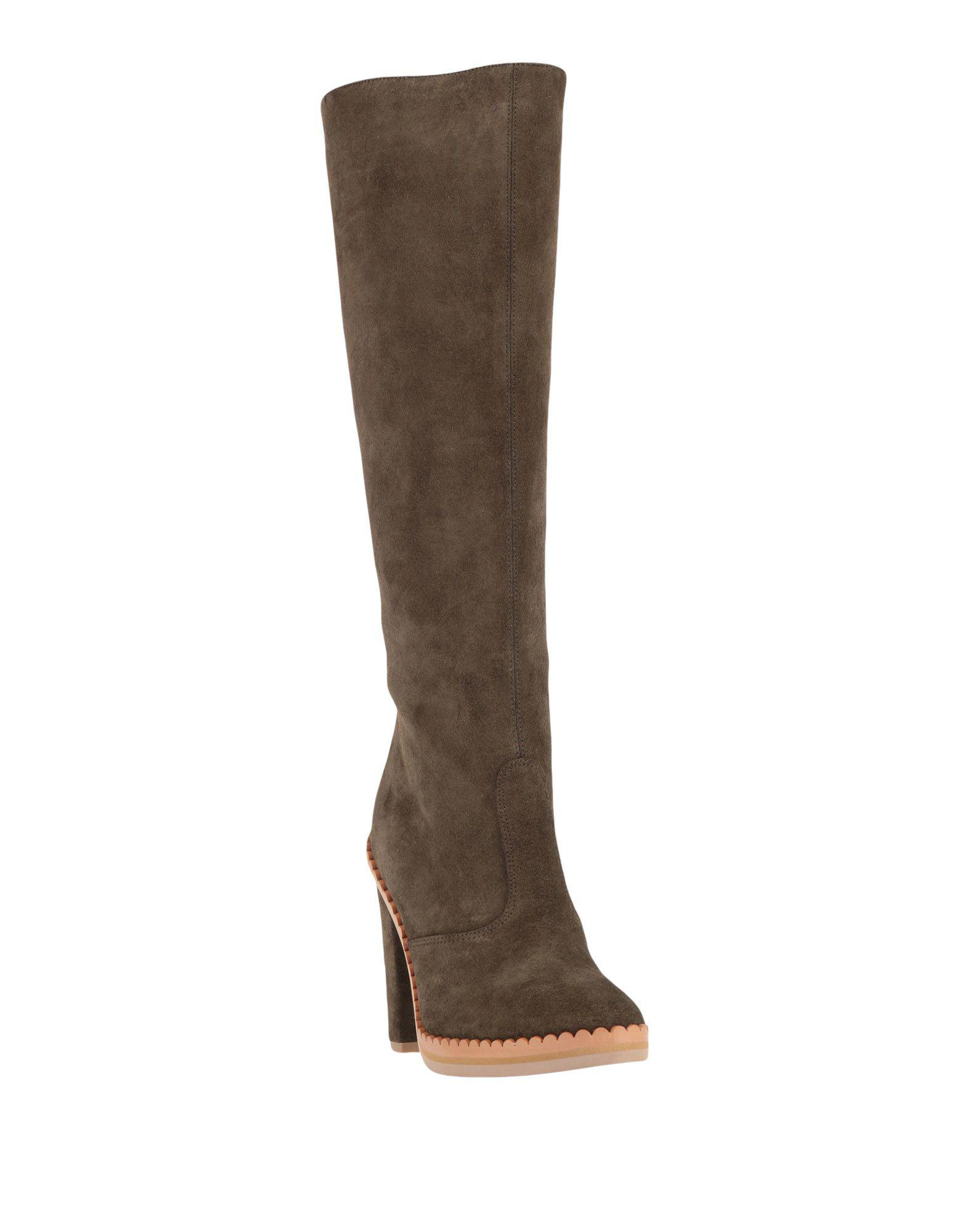 See By Chloé Suede Boots in Khaki (Brown)