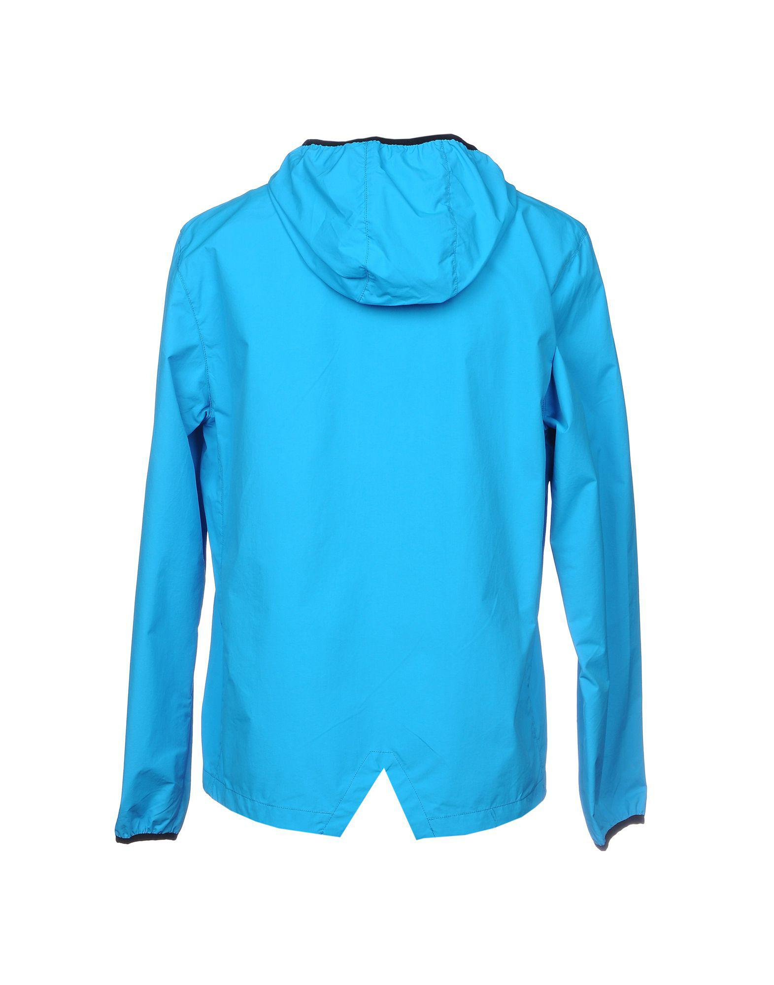 Yuko Synthetic Jacket in Azure (Blue) for Men