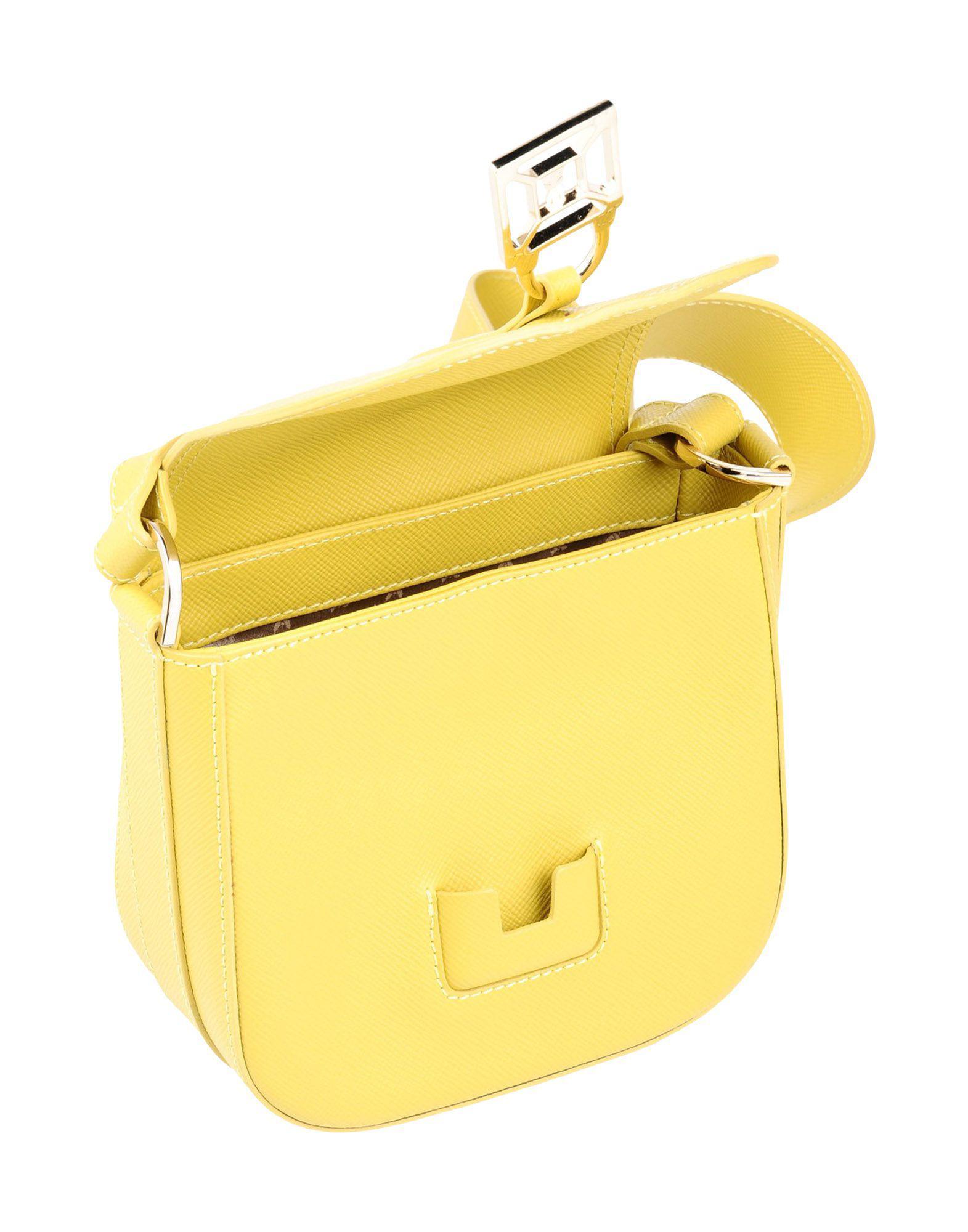 Patrizia Pepe Leather Cross-body Bag in Acid Green (Yellow)