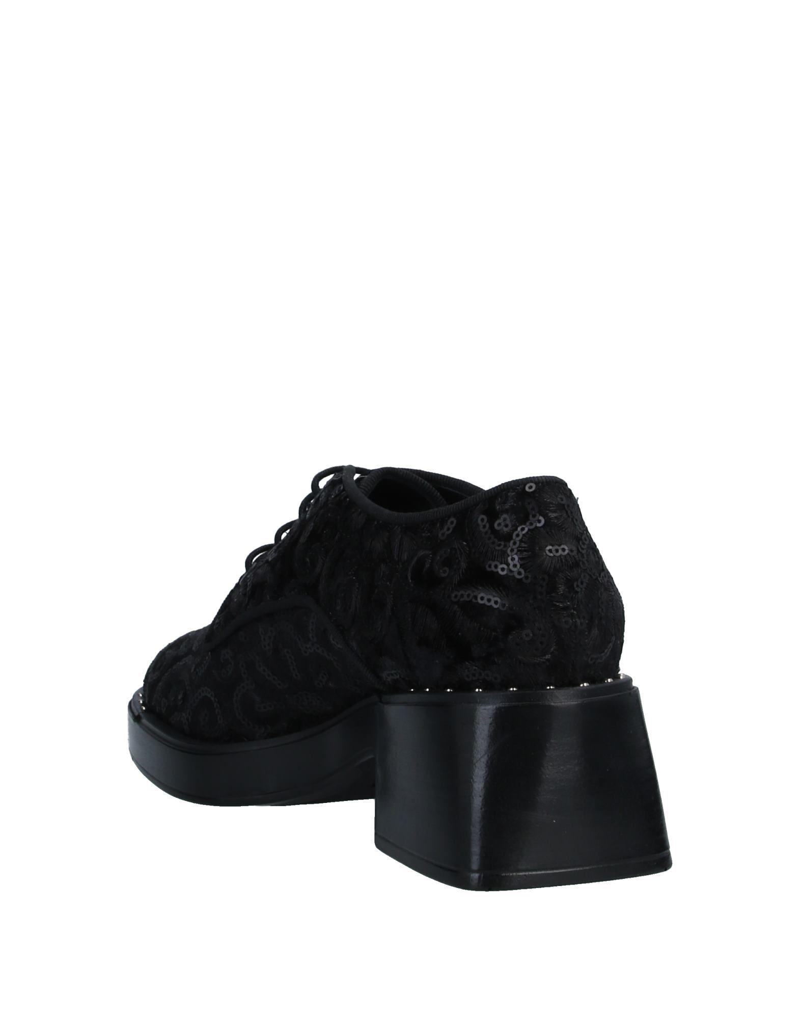 Zapatos de cordones Jeannot de Terciopelo de color Negro