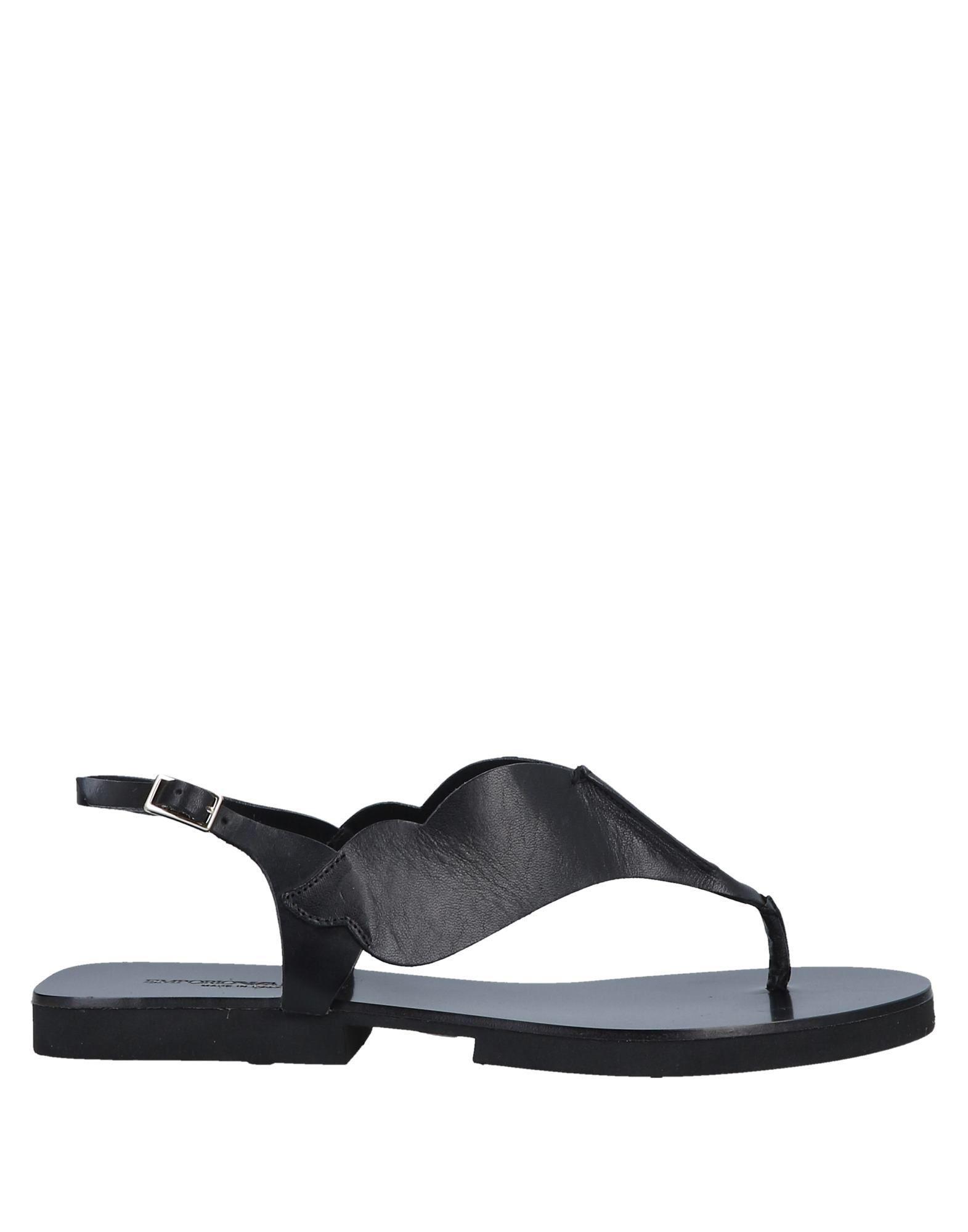 e19ea135e Lyst - Emporio Armani Toe Post Sandal in Black