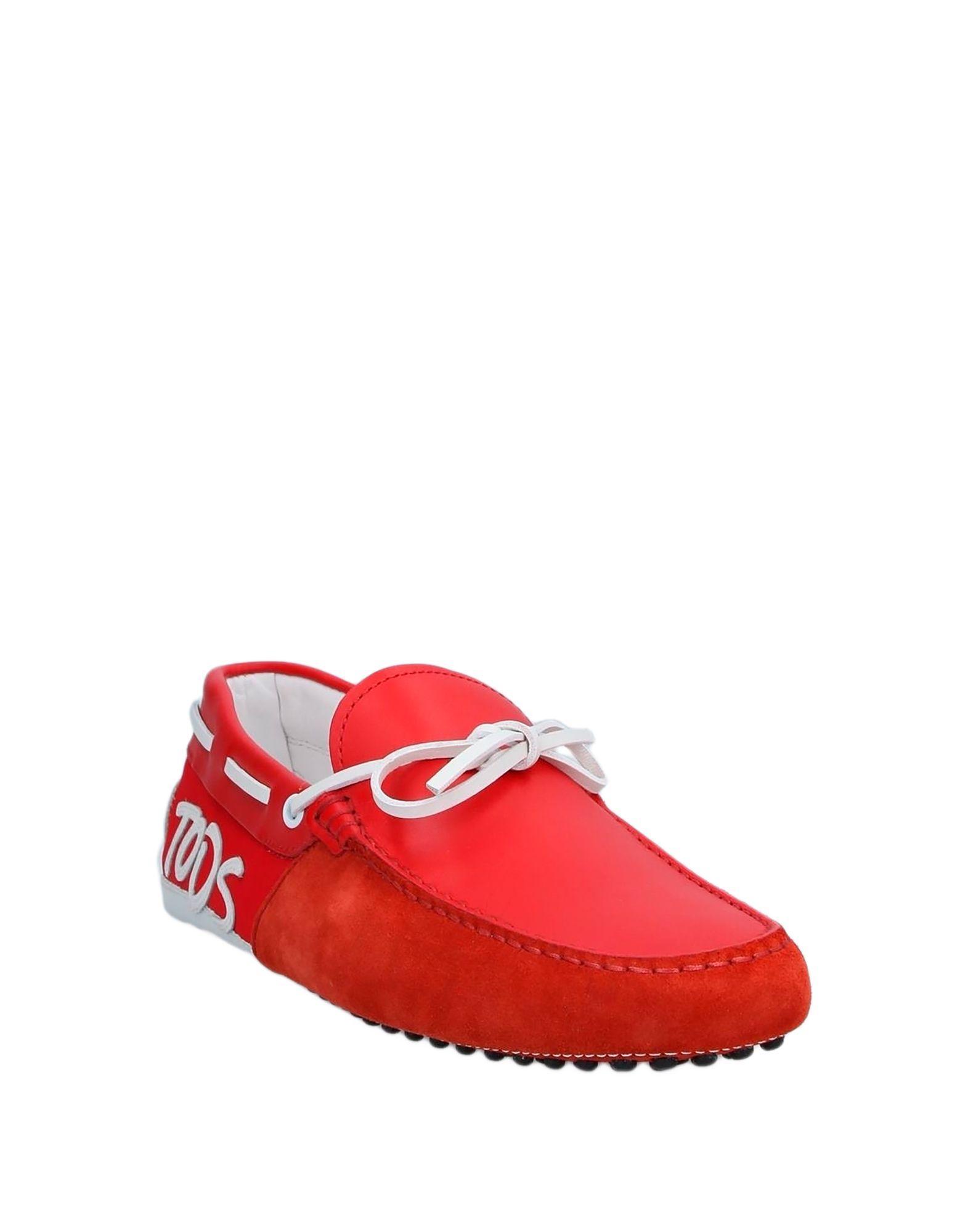 Mocasines Tod's de Ante de color Rojo para hombre