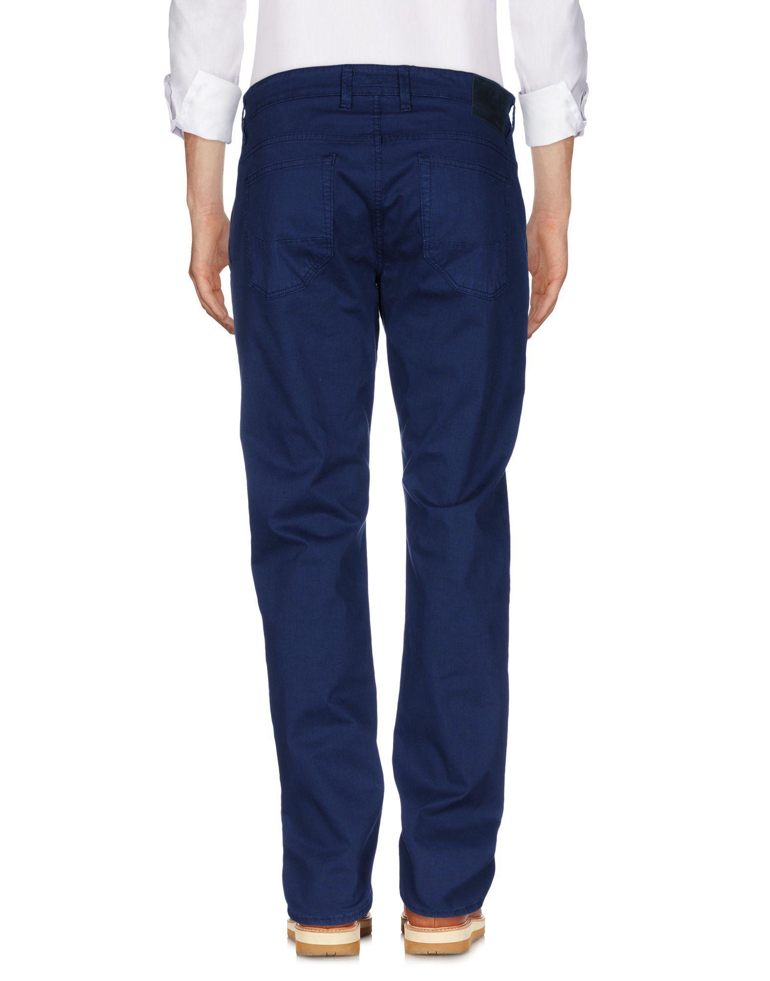 Siviglia Leather Casual Trouser in Dark Blue (Blue) for Men