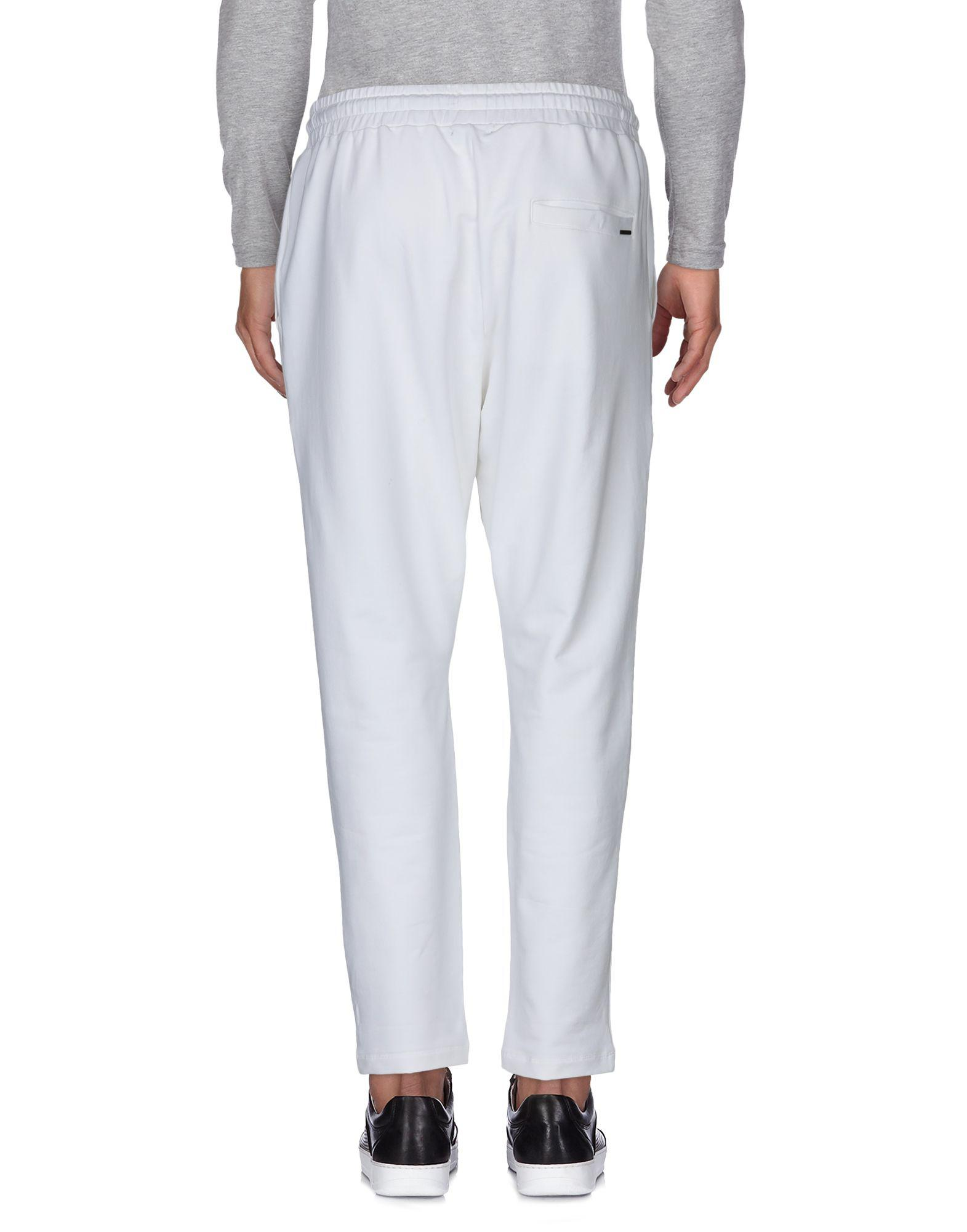 Antony Morato Fleece Casual Pants in White for Men