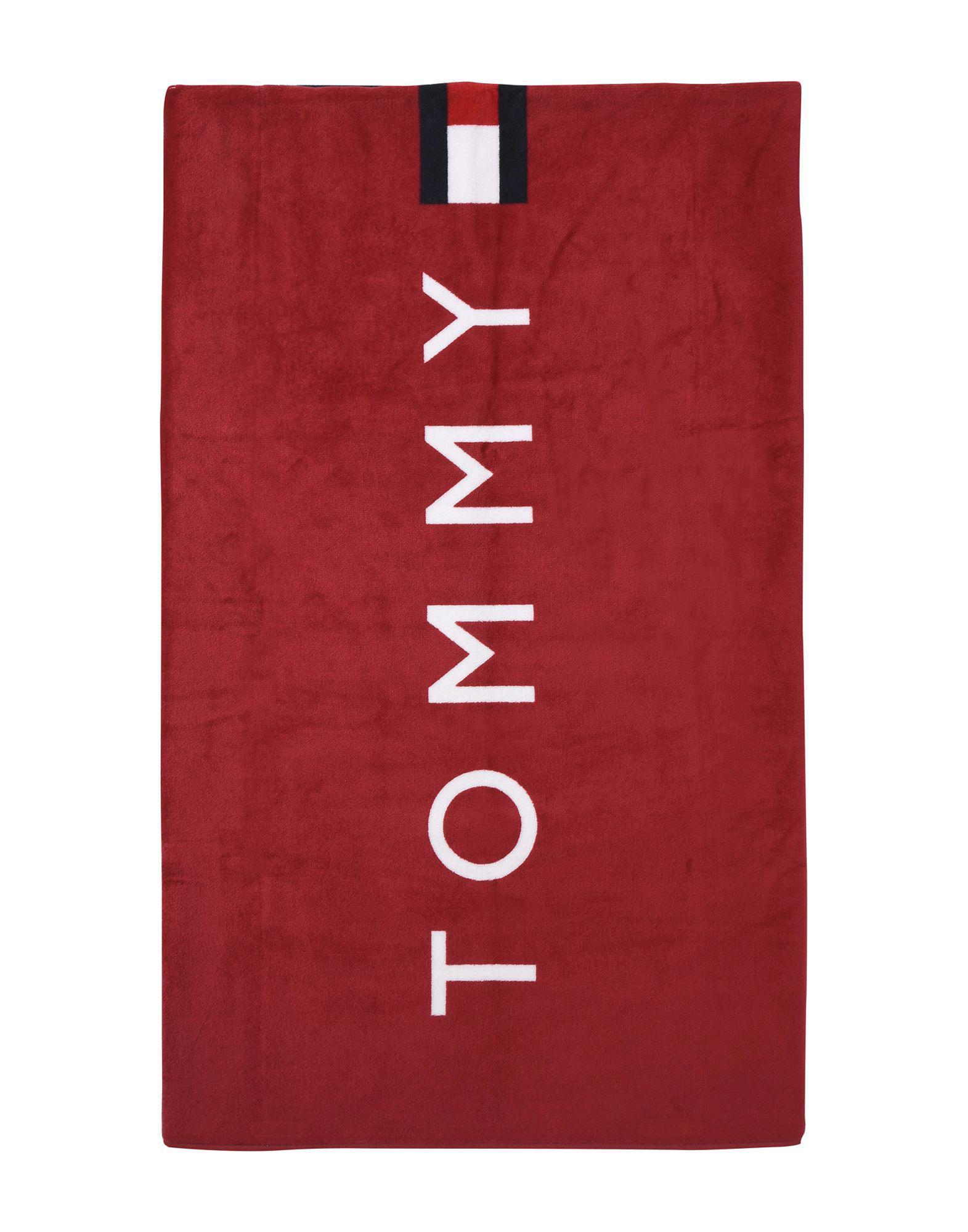 on sale huge discount special for shoe Tommy Hilfiger Baumwolle Badetuch in Rot - Lyst