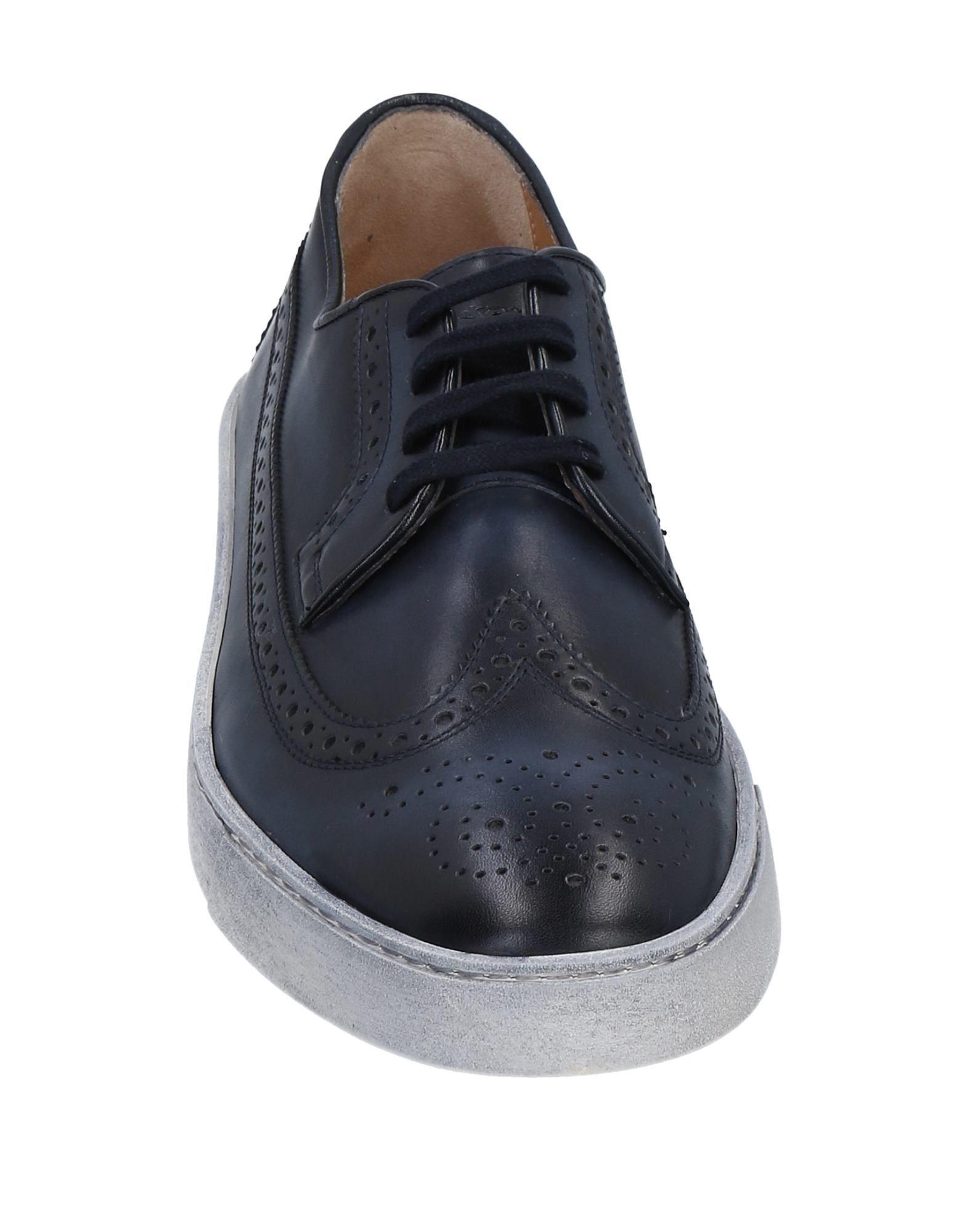 Santoni Leather Low-tops & Sneakers in Dark Blue (Blue) for Men