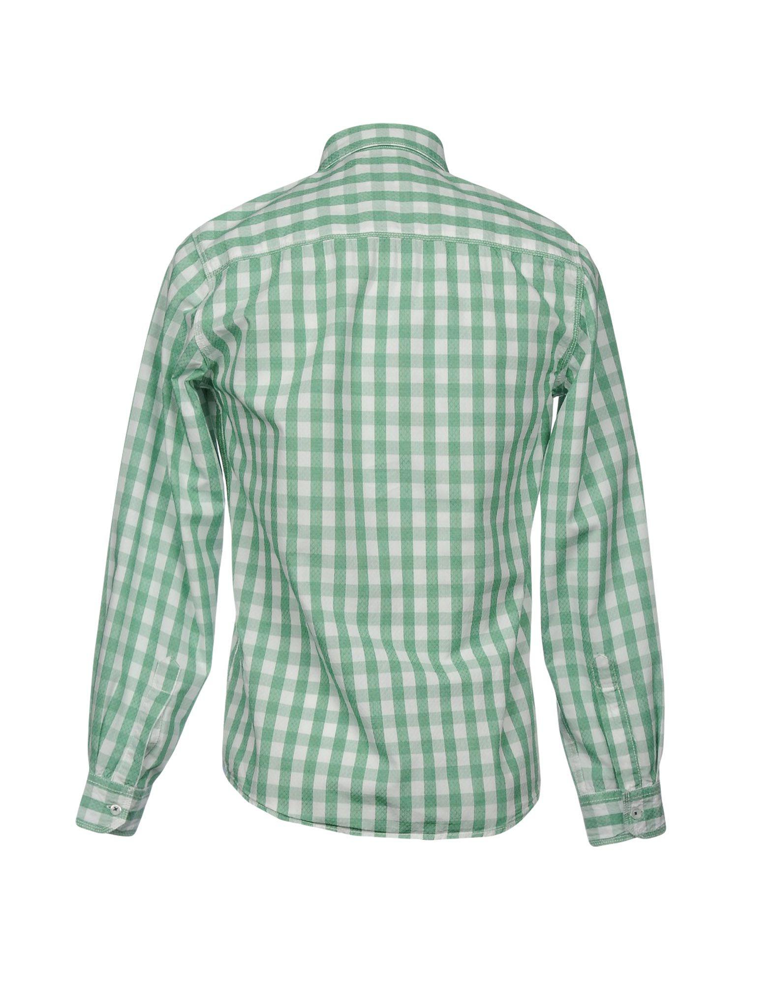 Pepe Jeans Cotton Shirt in Green for Men