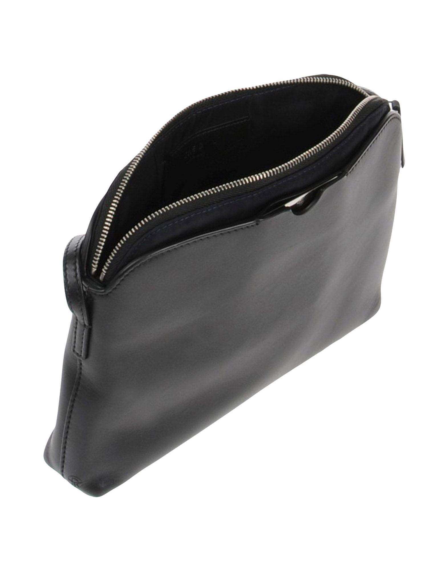 The Row Leather Cross-body Bag in Black