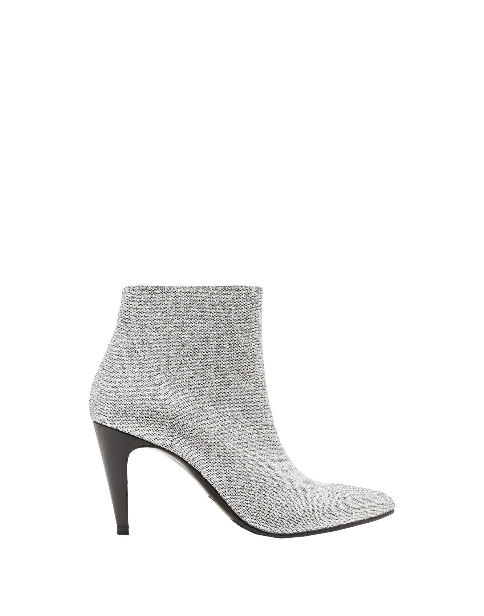 Robert Clergerie Leather Ankle Boots in Silver (Metallic)