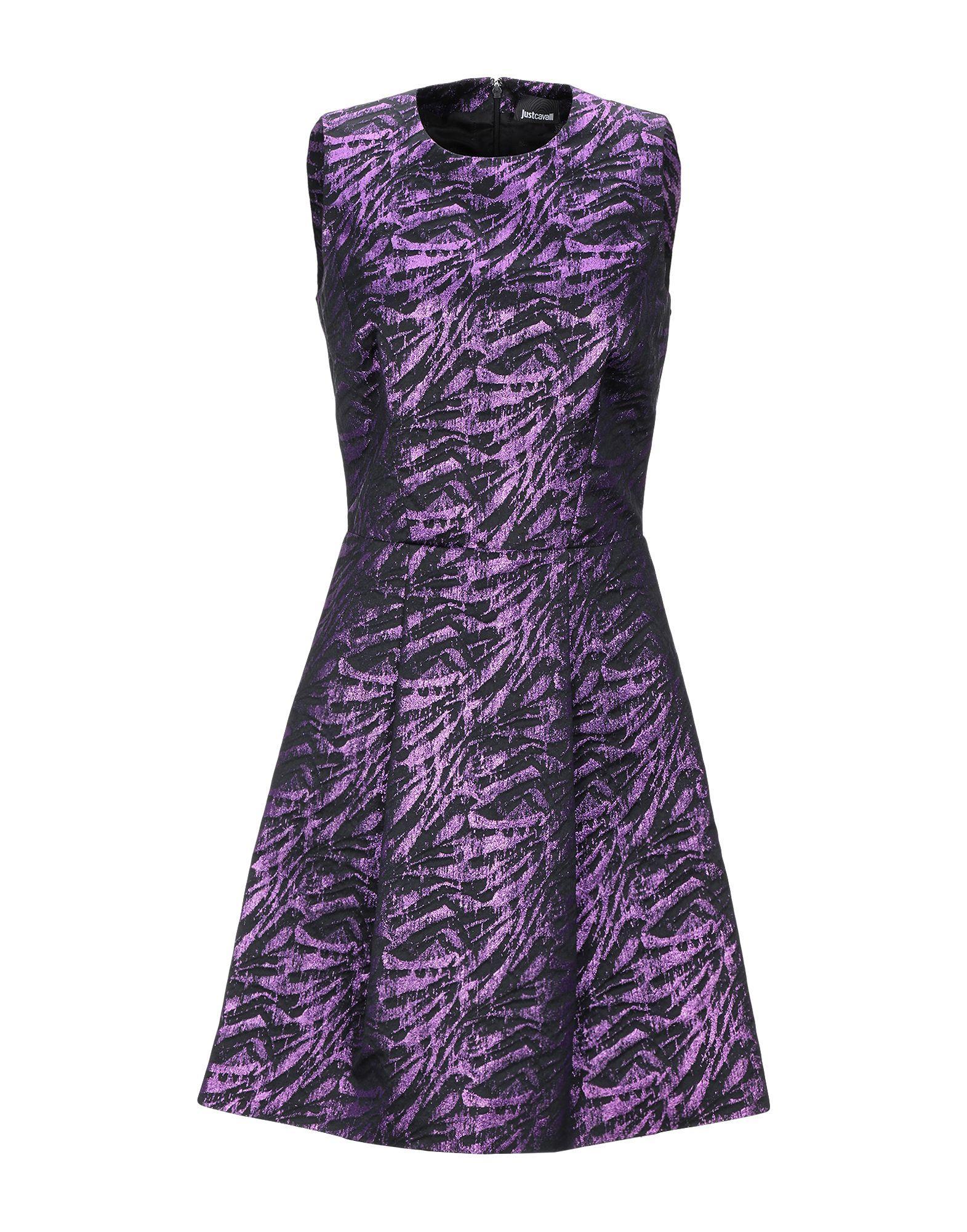 wholesale dealer b6540 c7fe9 Just Cavalli Short Dress in Purple - Lyst