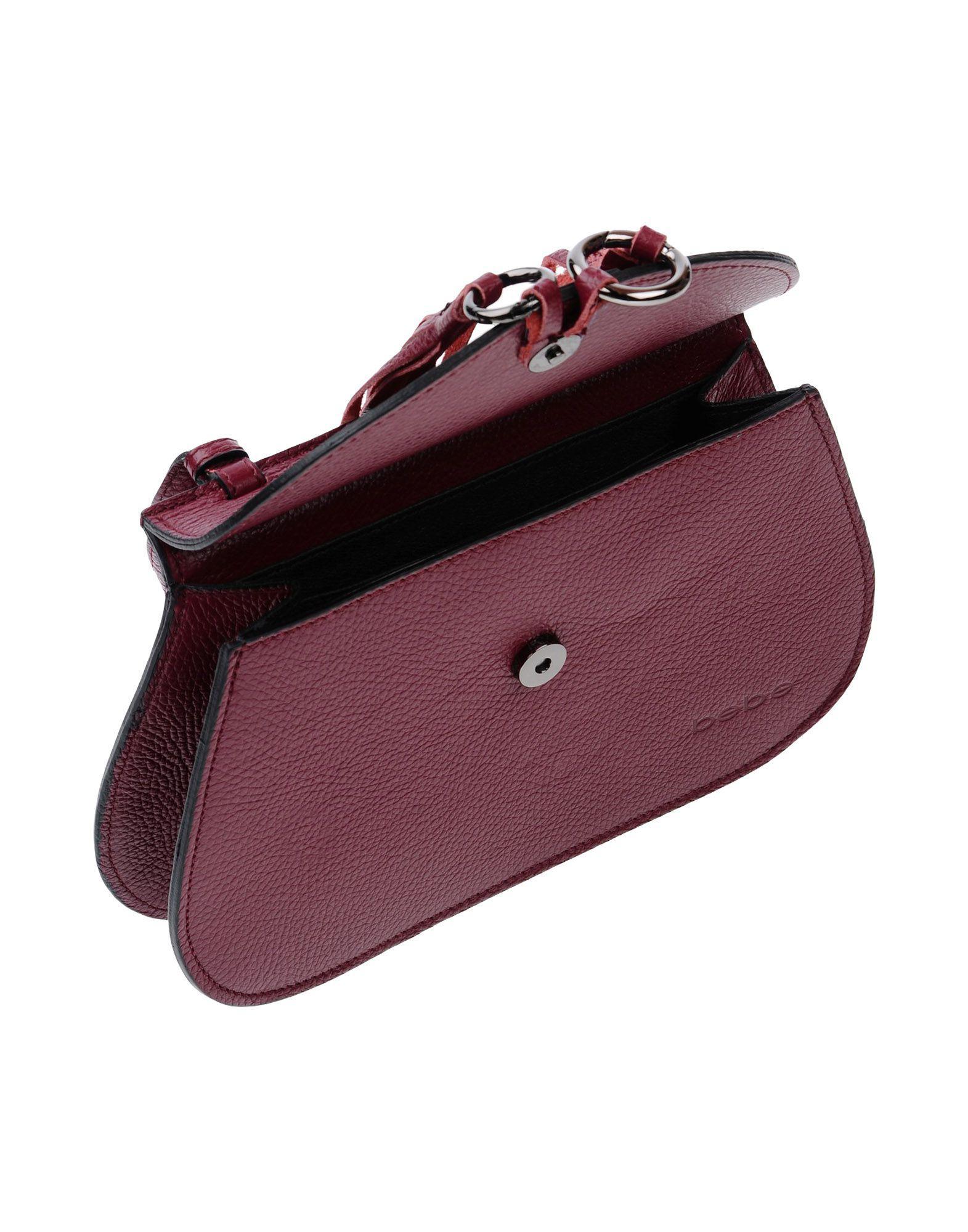 Bebe Leather Cross-body Bags in Deep Purple (Purple)