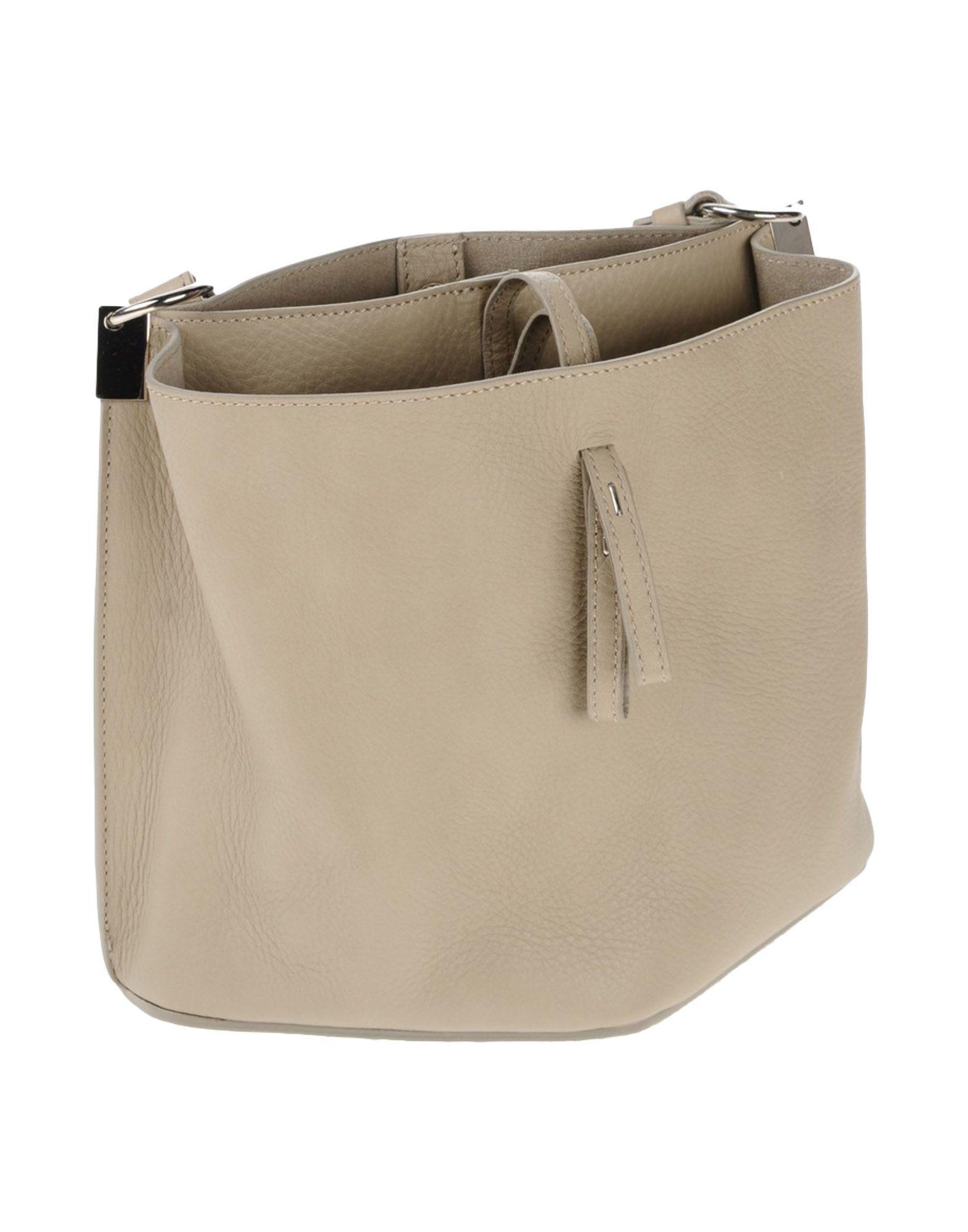 Maison Margiela Leather Cross-body Bag in Light Grey (Grey)