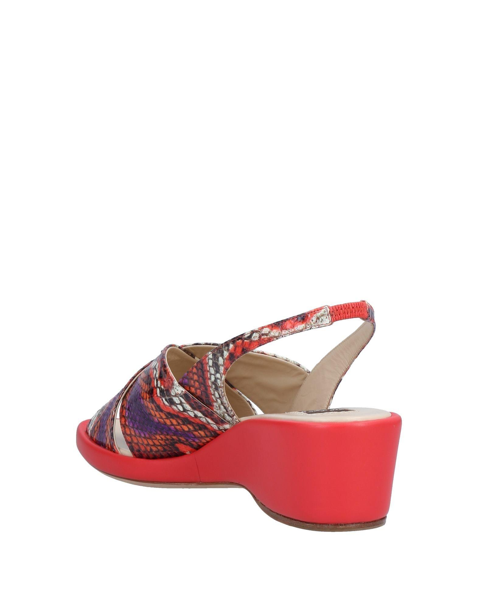 Sandales Rodo en coloris Rouge