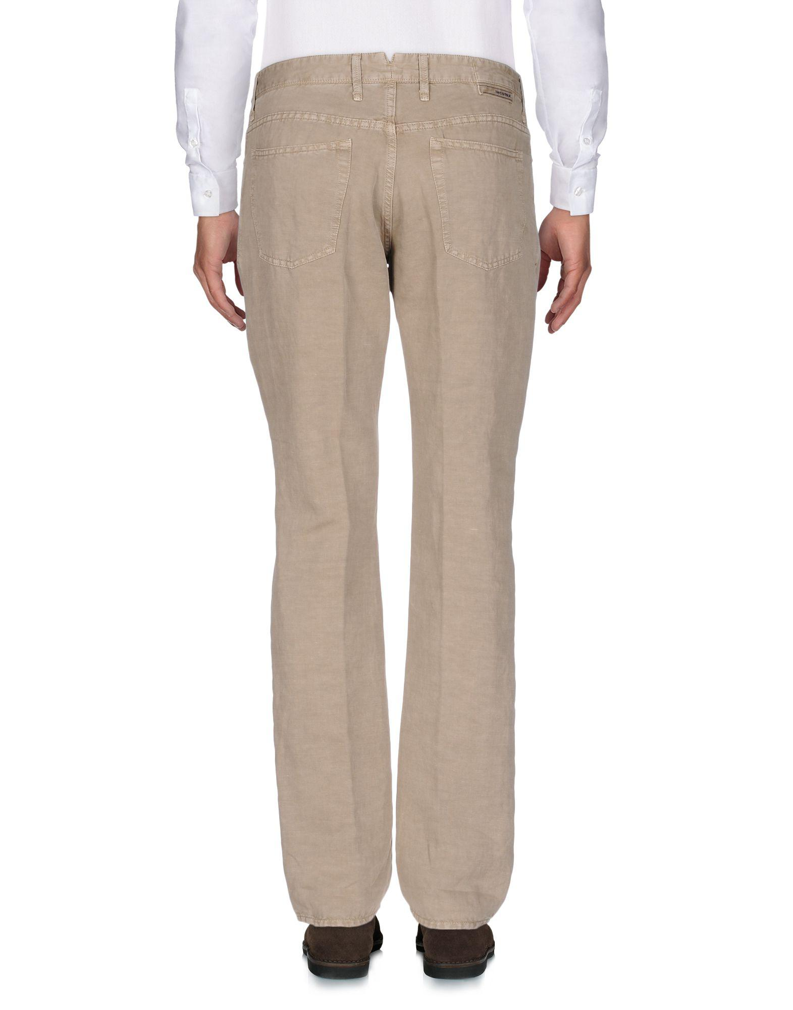 Incotex Leather Casual Pants in Khaki (Natural) for Men