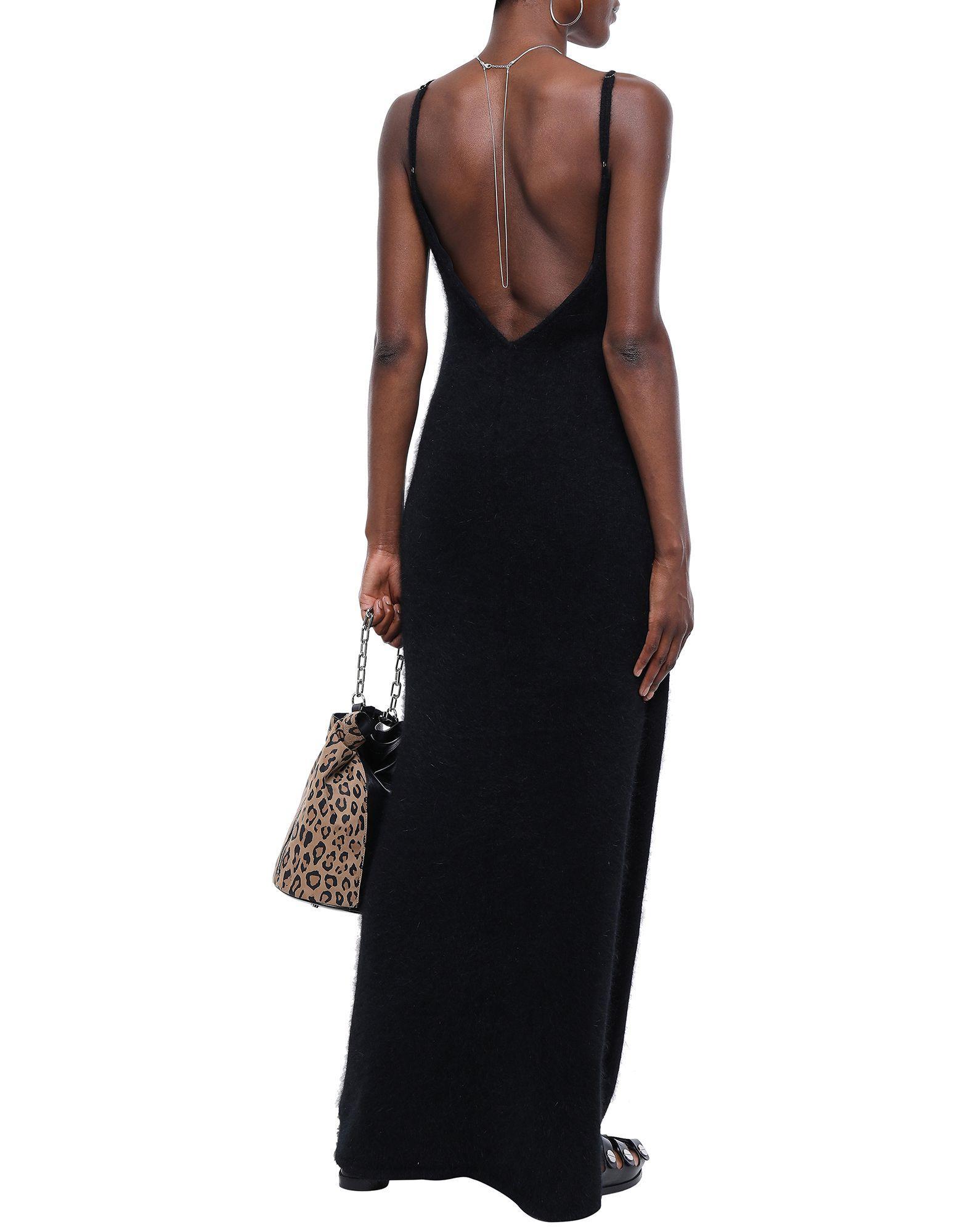 Vestido largo RTA de Lana de color Negro