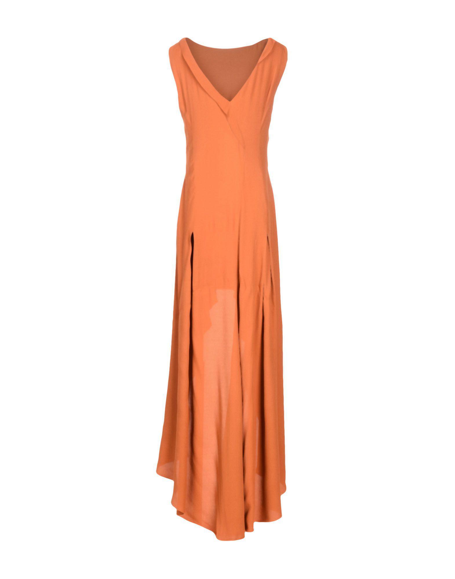Philosophy di Alberta Ferretti Short Dress in Orange - Lyst 44bdcd507