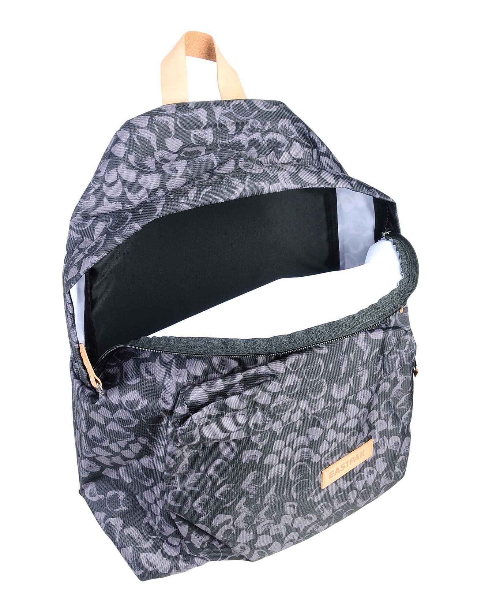Eastpak Leather Backpacks & Bum Bags in Steel Grey (Grey)