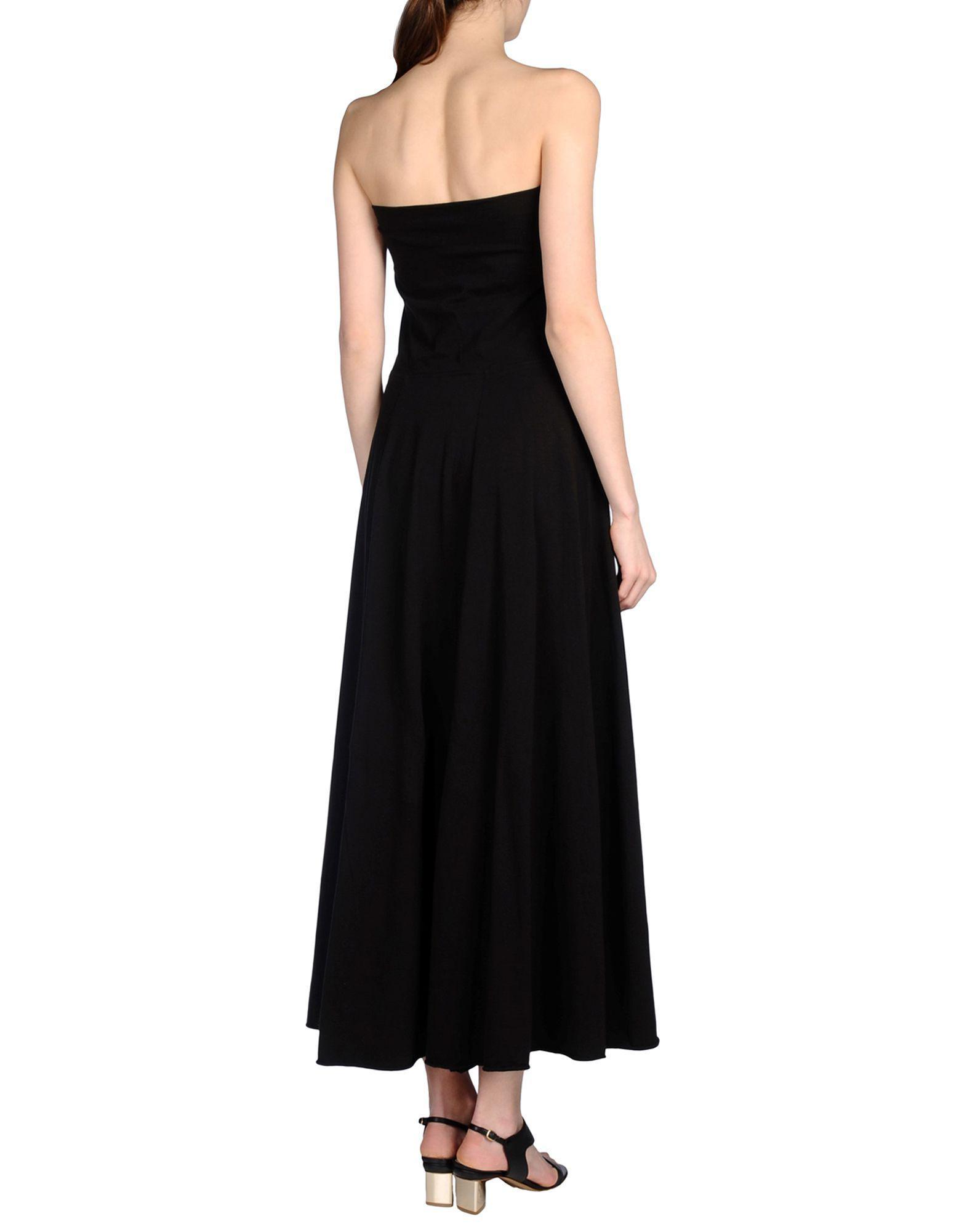 Satine Label Cotton Long Dress in Dark Brown (Brown)