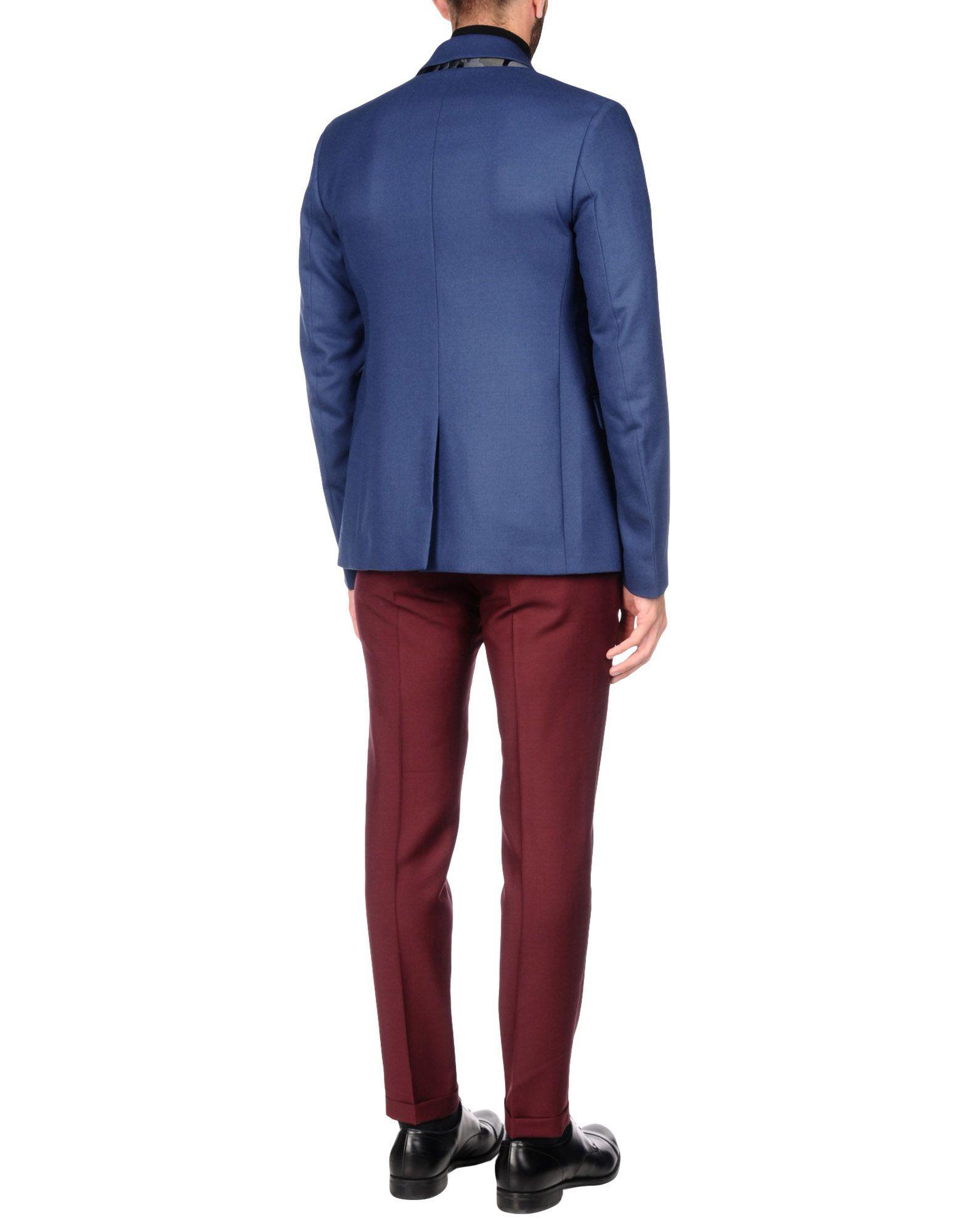 McQ Flannel Blazer in Dark Blue (Blue) for Men