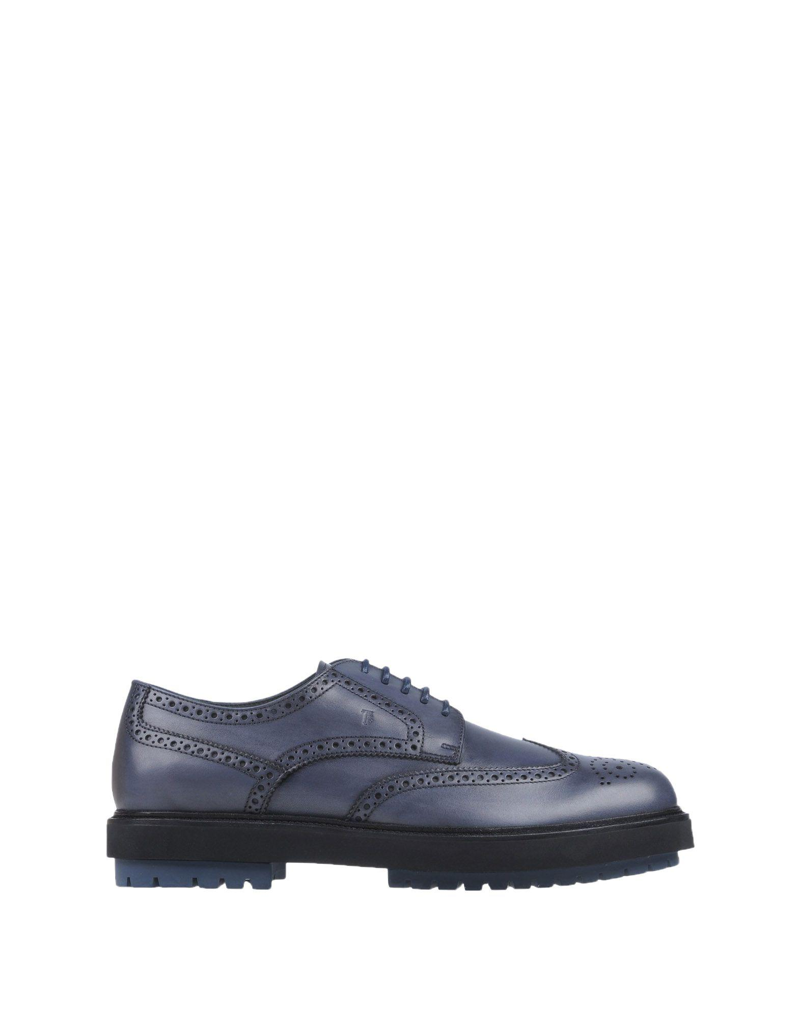Tod's Leather Lace-up Shoe in Slate Blue (Blue) for Men