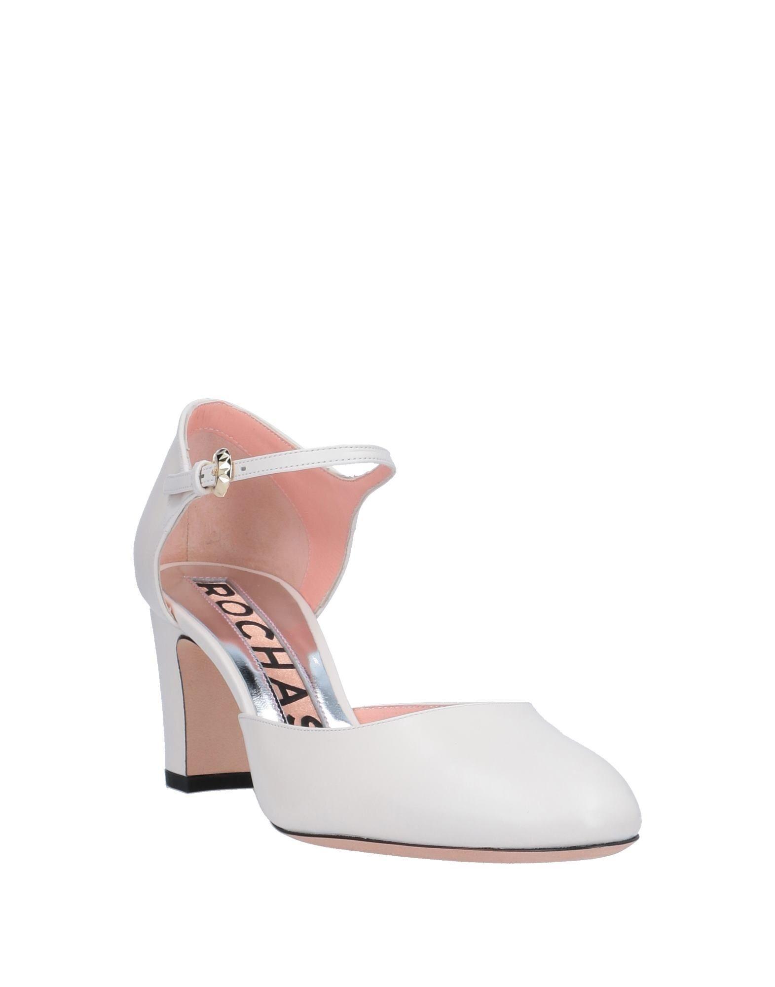 Zapatos de salón Rochas de Cuero de color Blanco