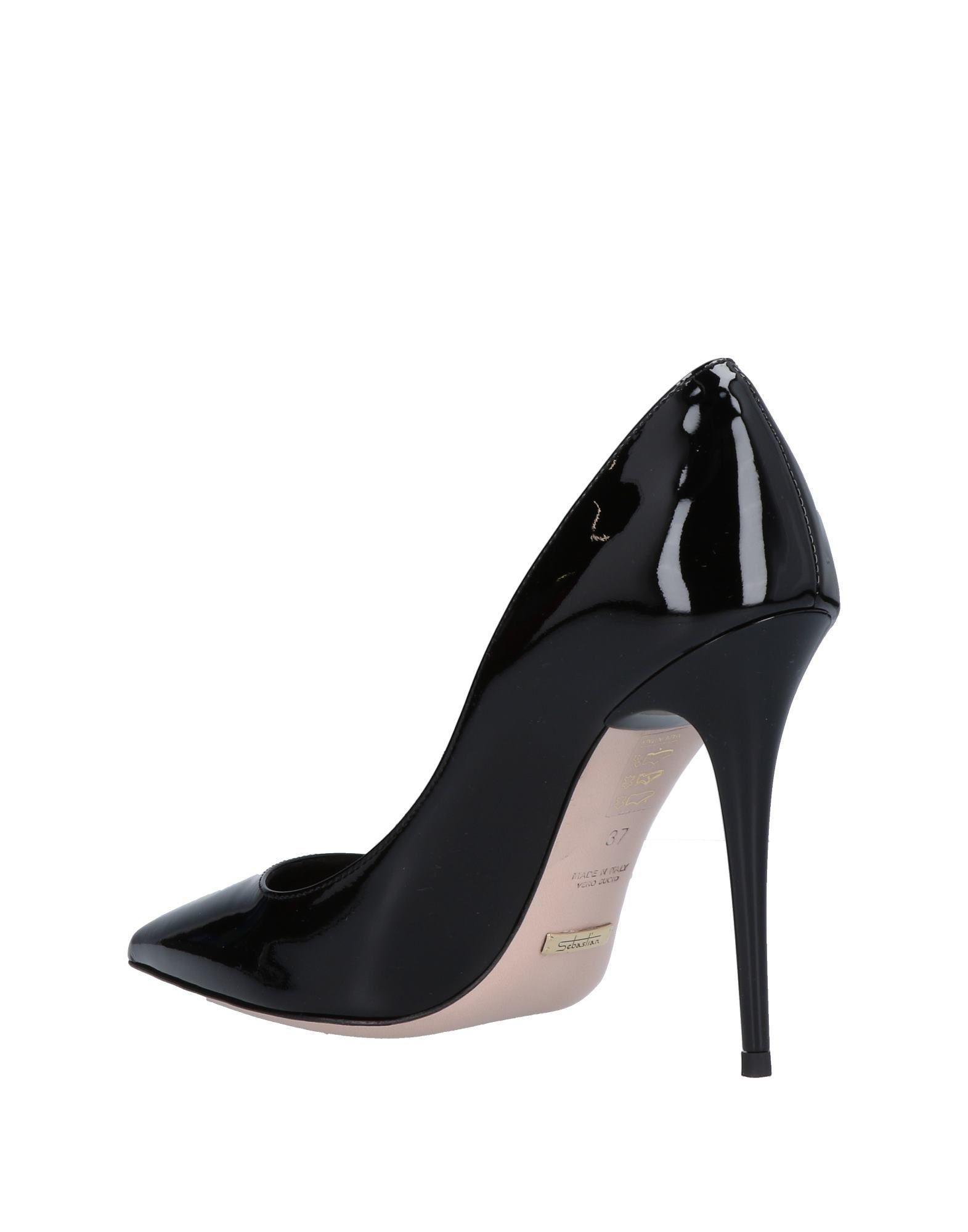 Zapatos de salón Sebastian de Cuero de color Negro