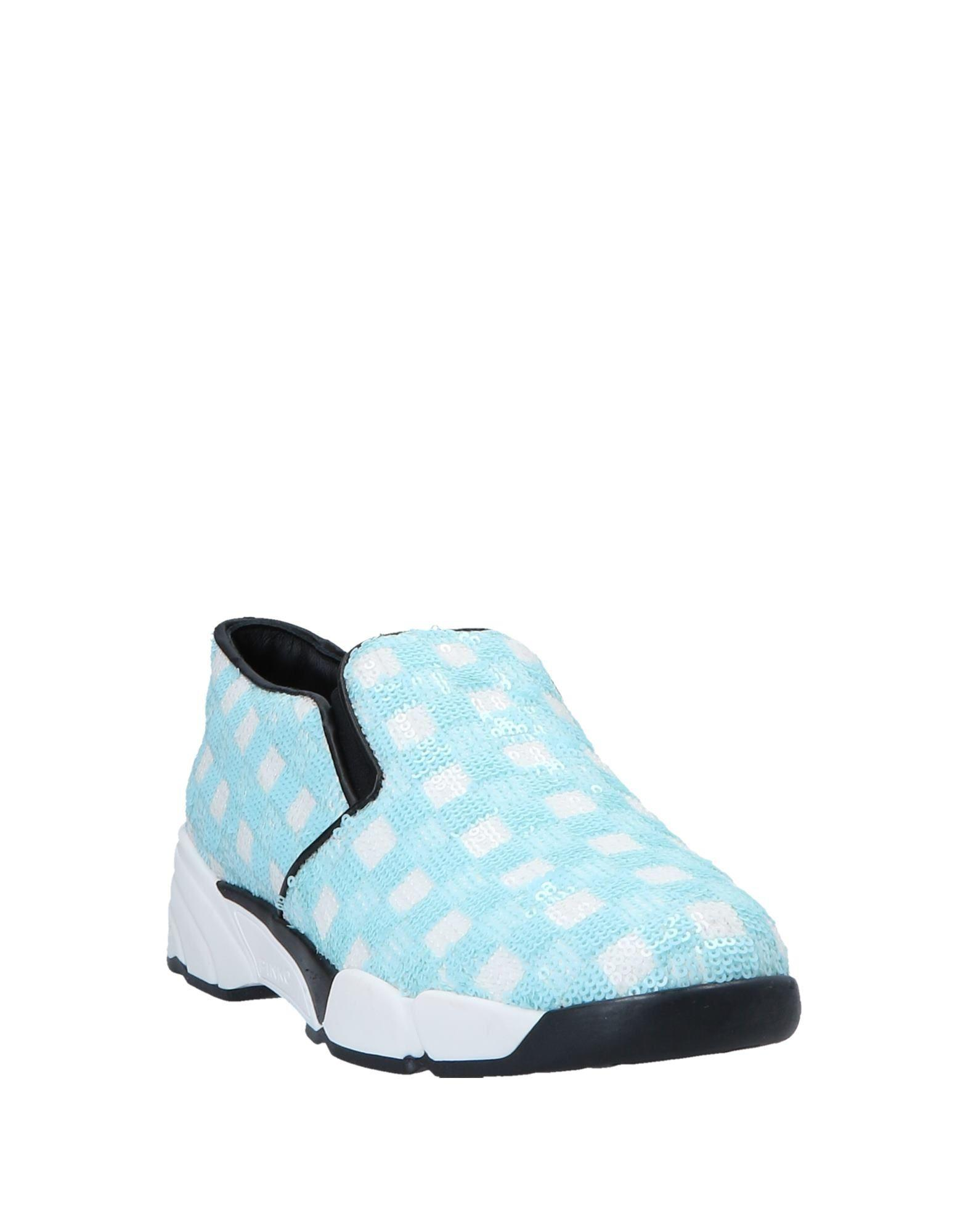 Pinko Leather Low-tops & Sneakers in Azure (Blue)