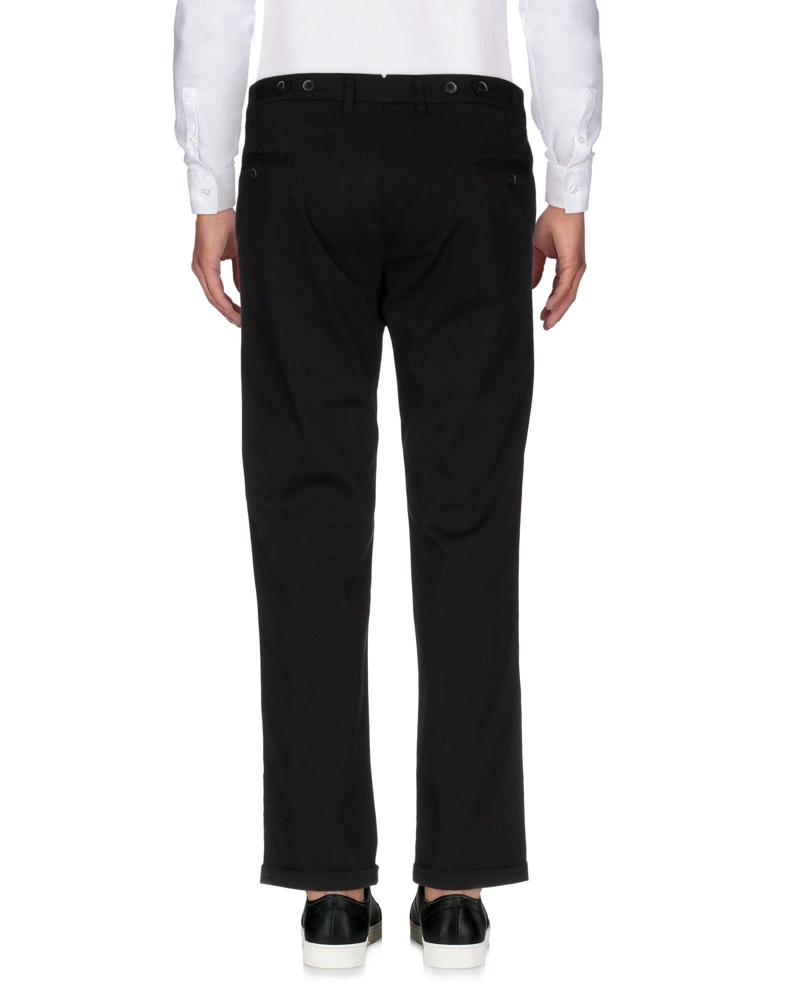 Barena Cotton Casual Pants in Black for Men