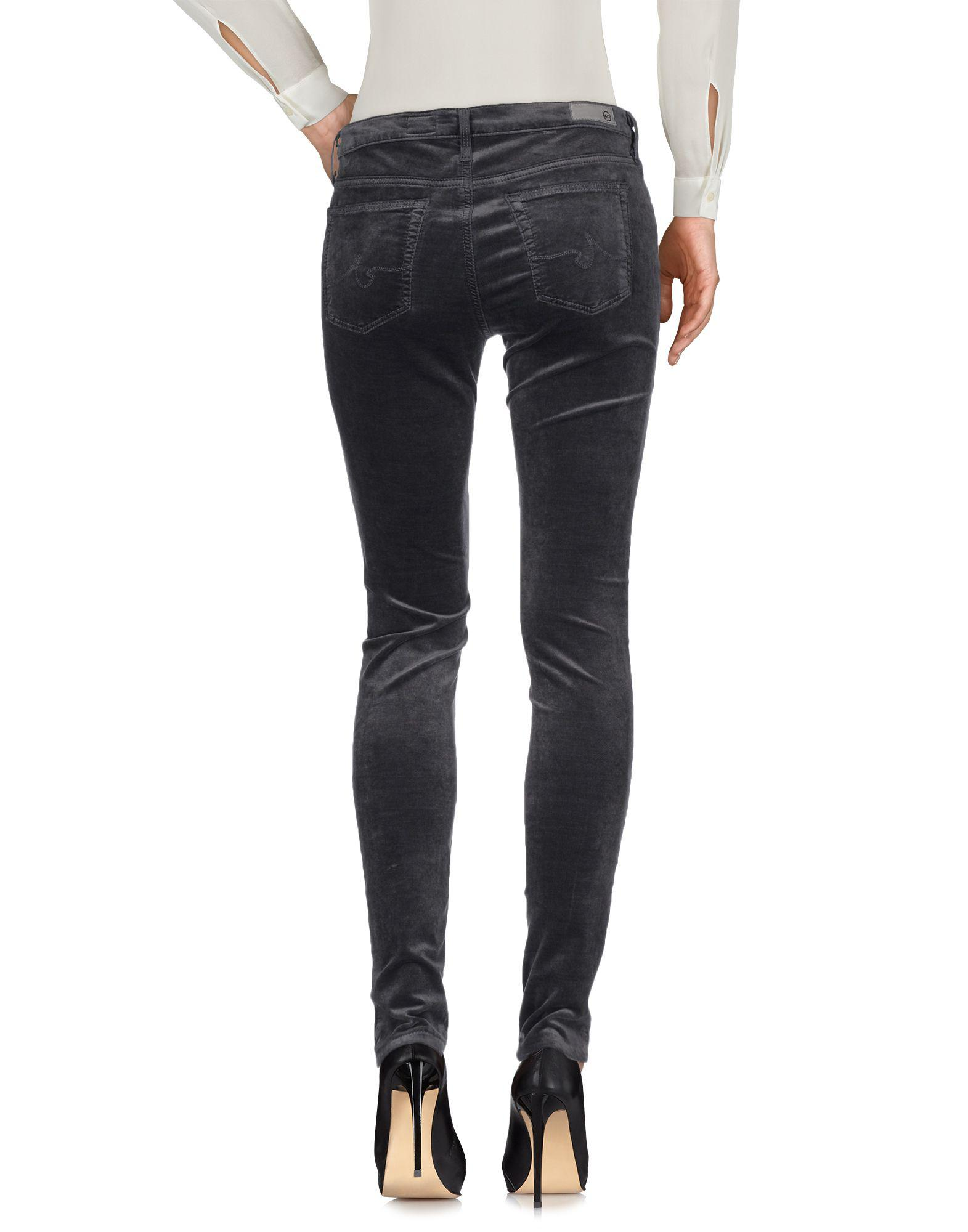 AG Jeans Velvet Casual Trouser in Steel Grey (Grey)