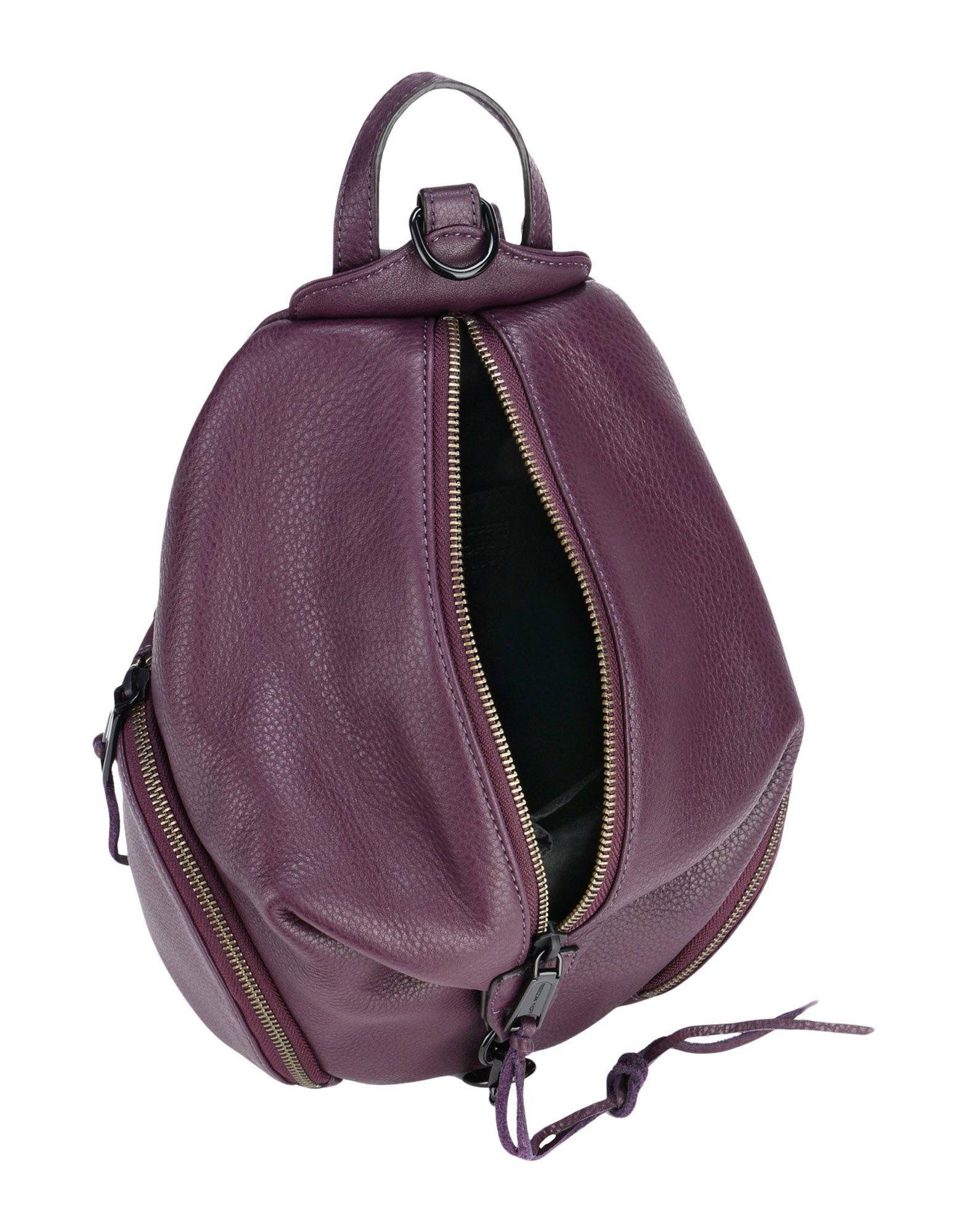Rebecca Minkoff Leather Backpacks & Fanny Packs in Deep Purple (Purple)