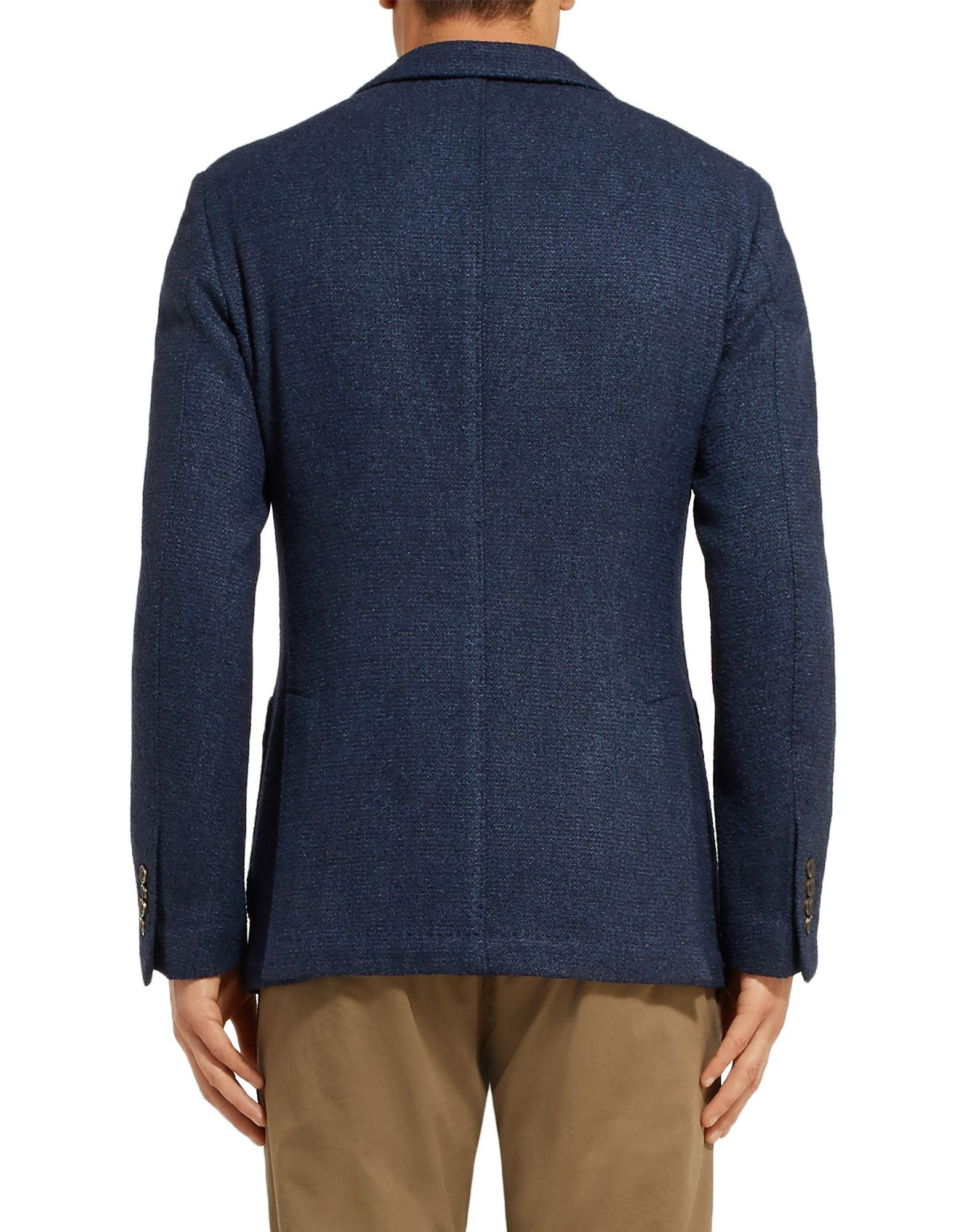 Altea Wool Blazer in Blue for Men