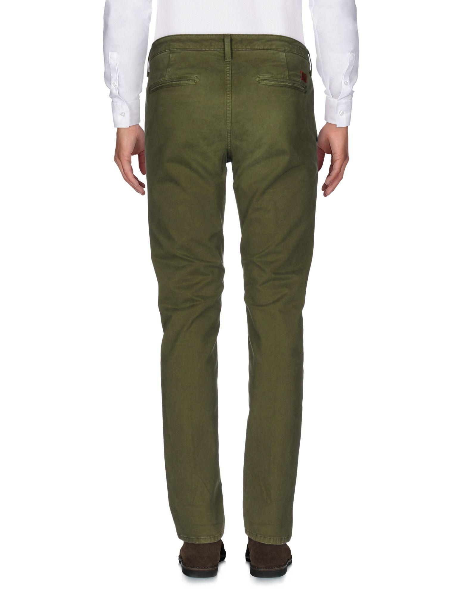 0/zero Construction Leather Casual Pants in Military Green (Green) for Men