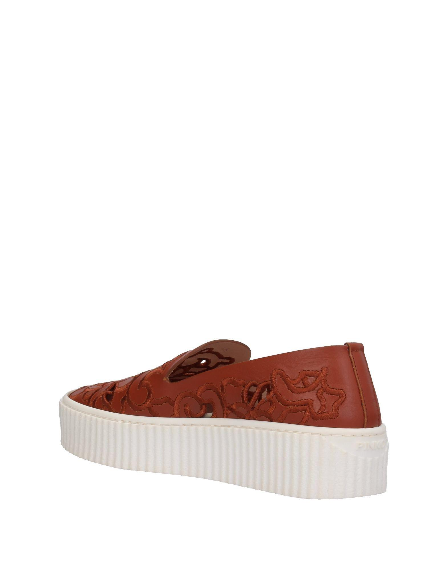 Pinko Leather Low-tops & Sneakers in Brown