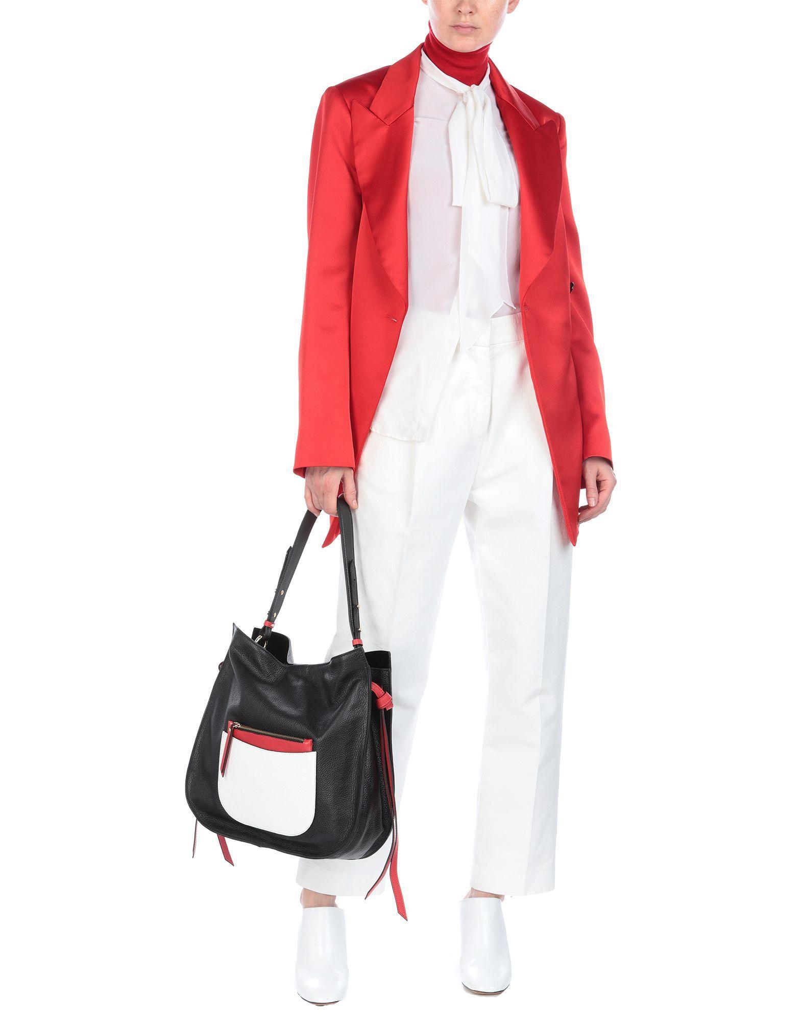 Ab Asia Bellucci Leder Handtaschen in Schwarz MC7D5