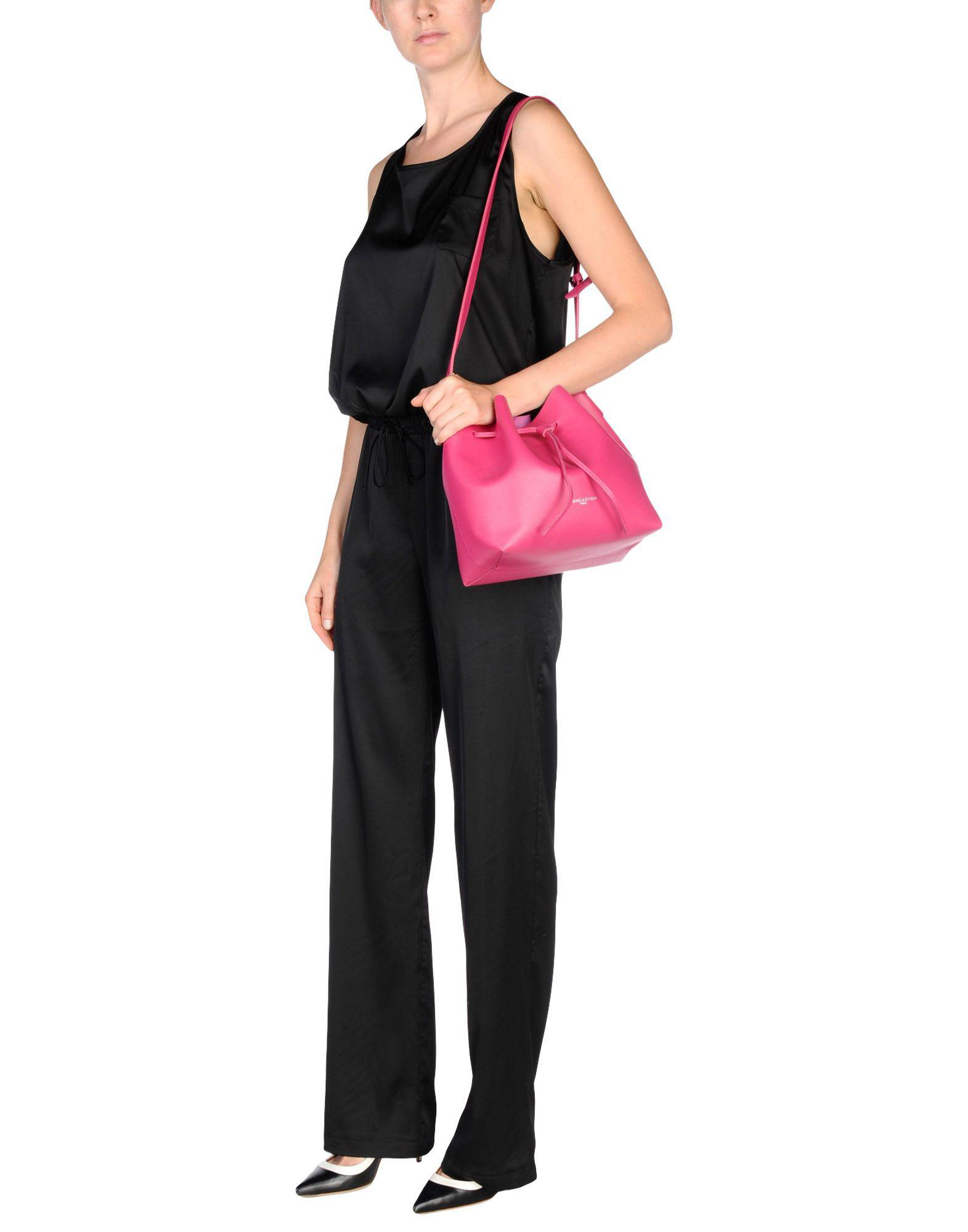 Lancaster Leather Cross-body Bag in Fuchsia (Pink)