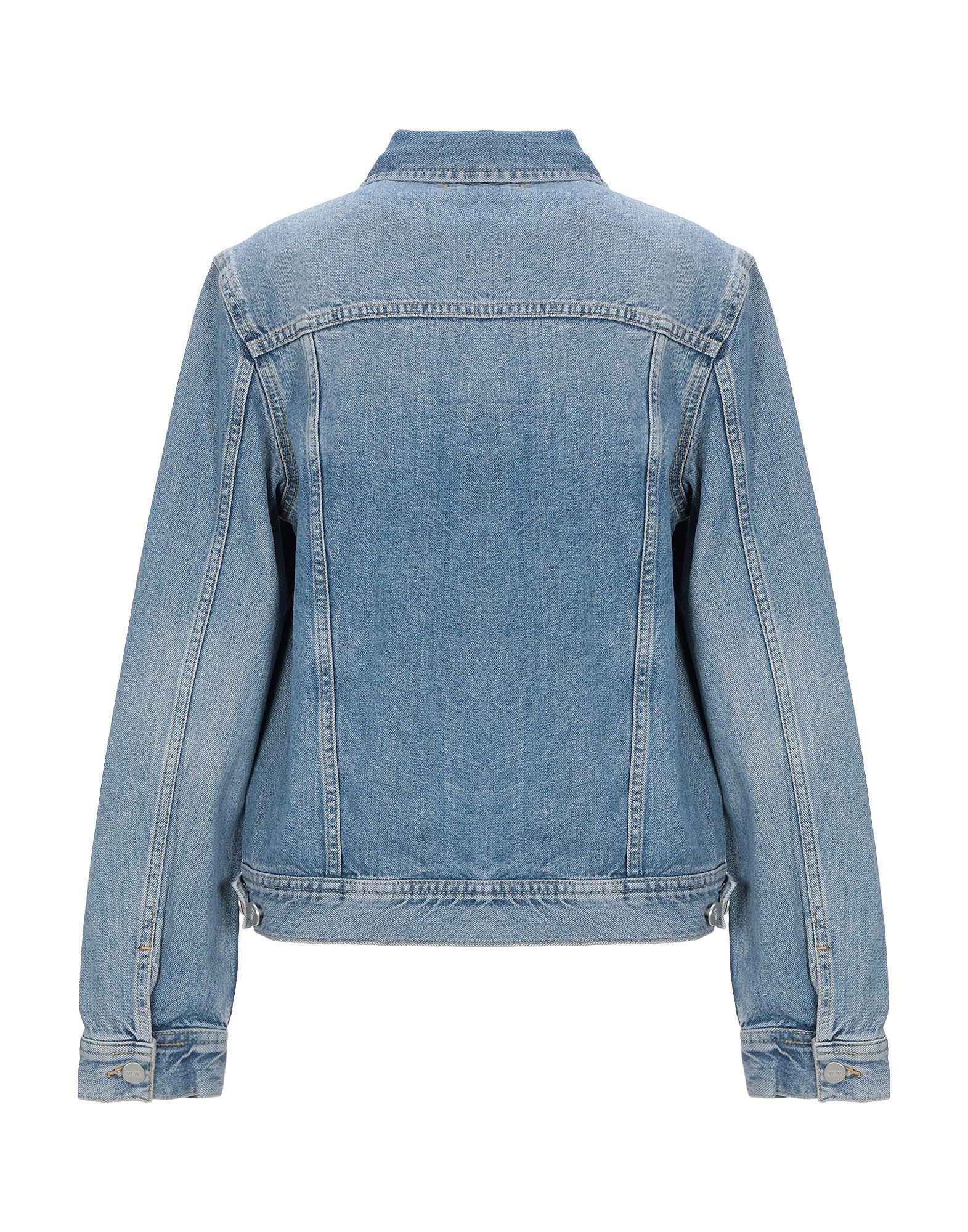 Manteau en jean Jean WOOD WOOD en coloris Bleu vUEIl