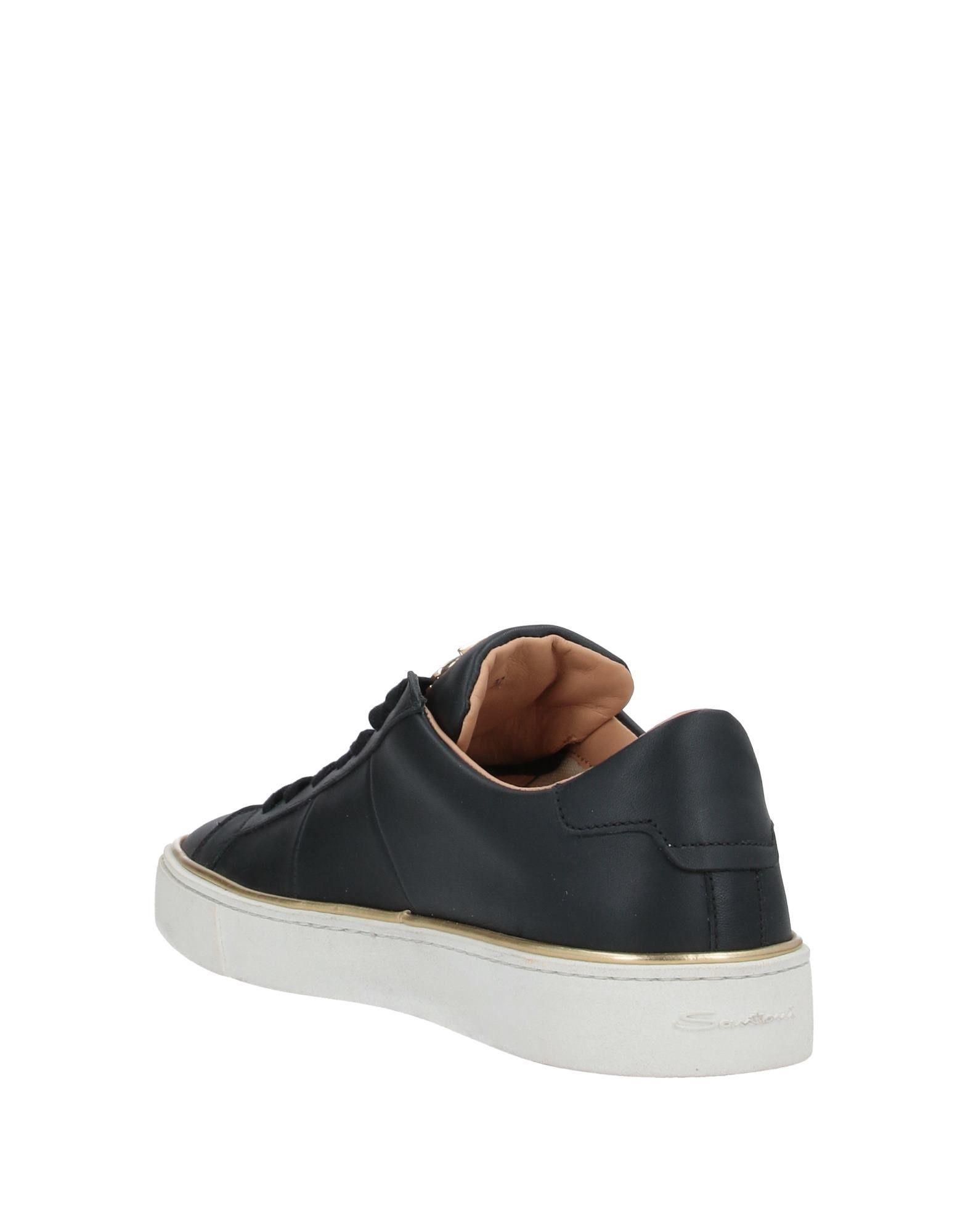 Sneakers & Deportivas Santoni de Cuero de color Negro