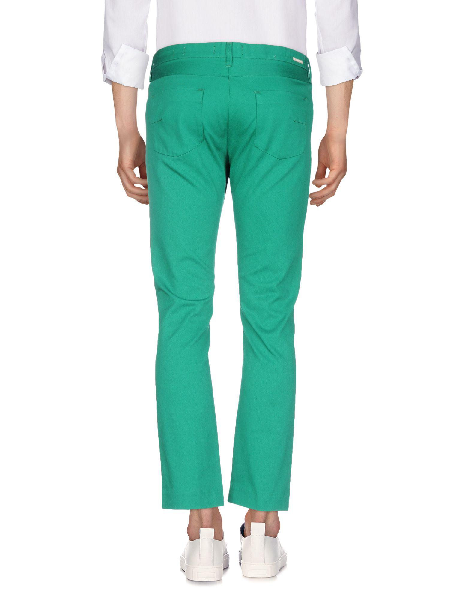 Mauro Grifoni Denim Pants in Green for Men