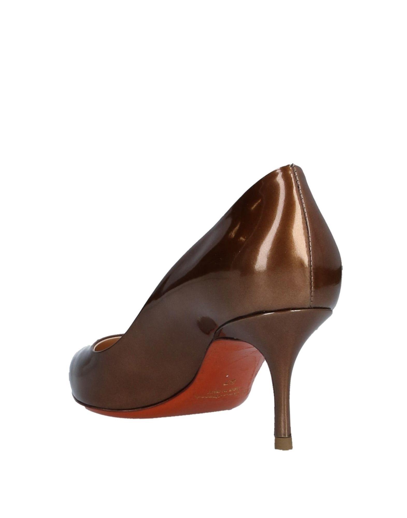 Zapatos de salón Santoni de Cuero de color Marrón