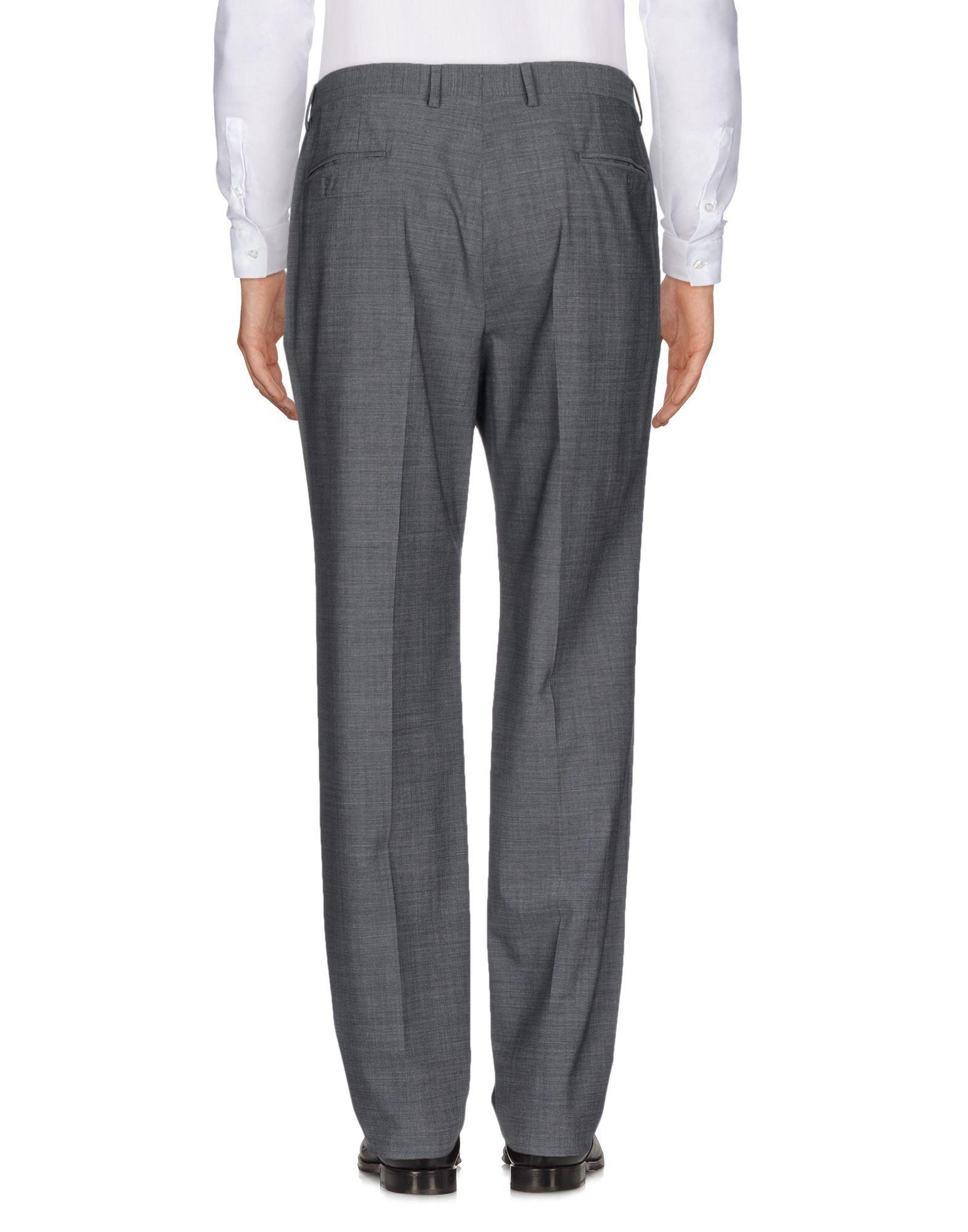 Lardini Wool Casual Trouser in Lead (Grey) for Men