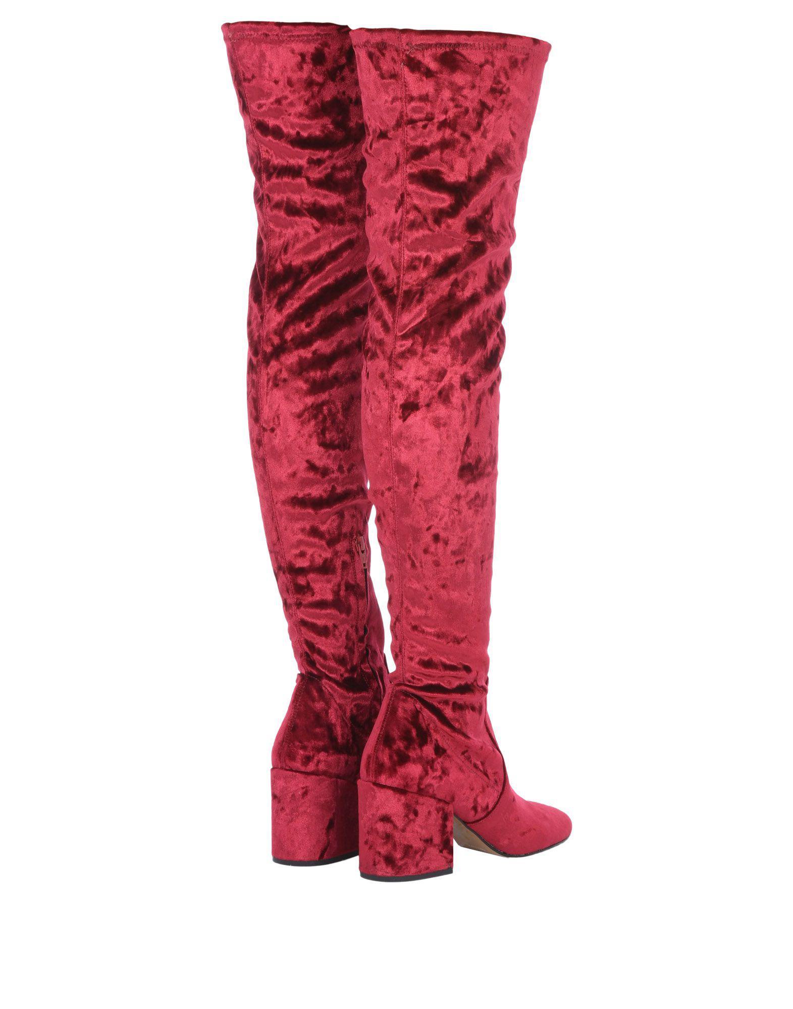 Botas Bianca Di de Terciopelo de color Rojo