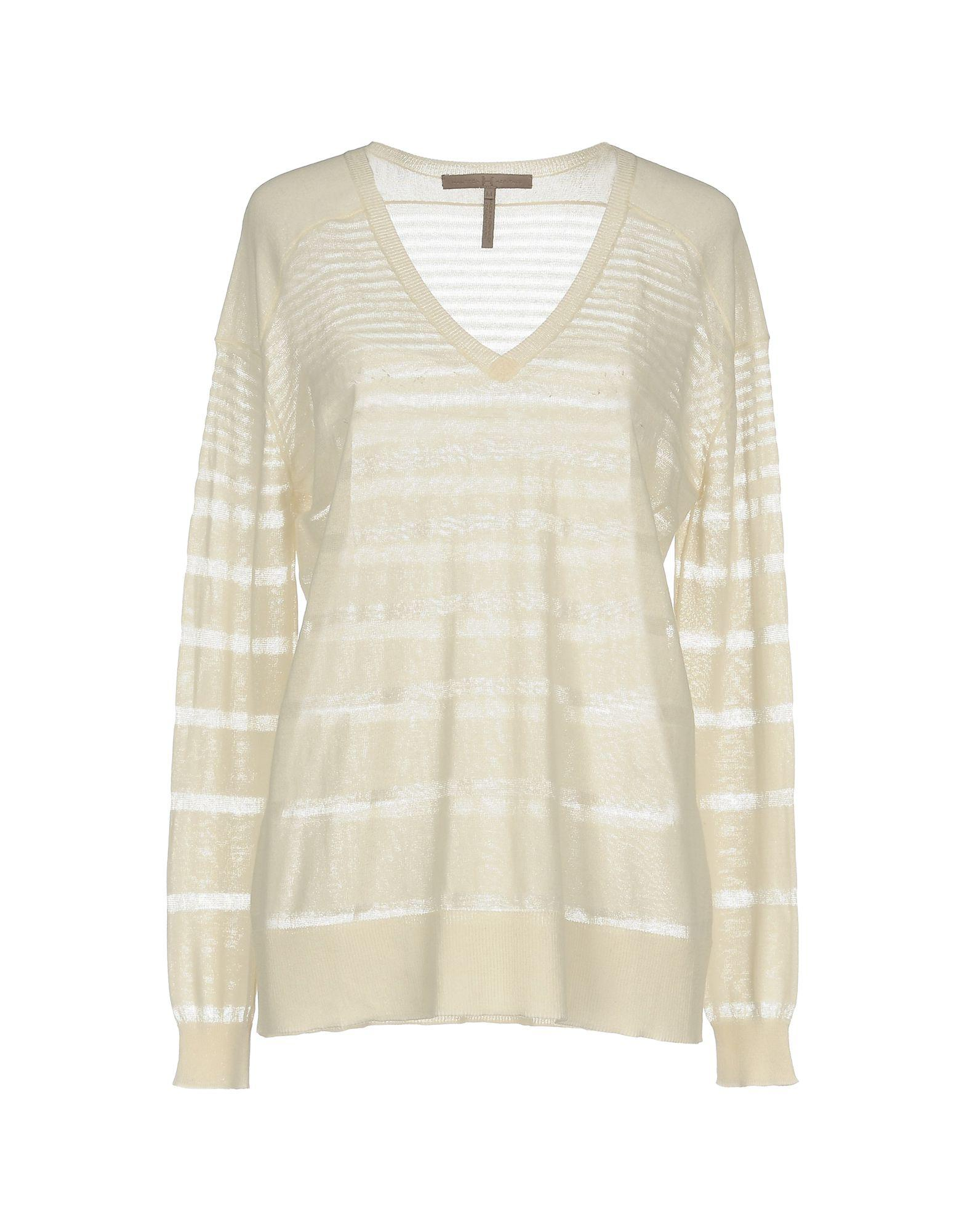 Halston Heritage Woman Chiffon-paneled Cutout Knitted Sweater Pastel Yellow Size XL Halston Heritage Eastbay Popular For Sale Find Great For Sale Cheap Price Wholesale aknIg
