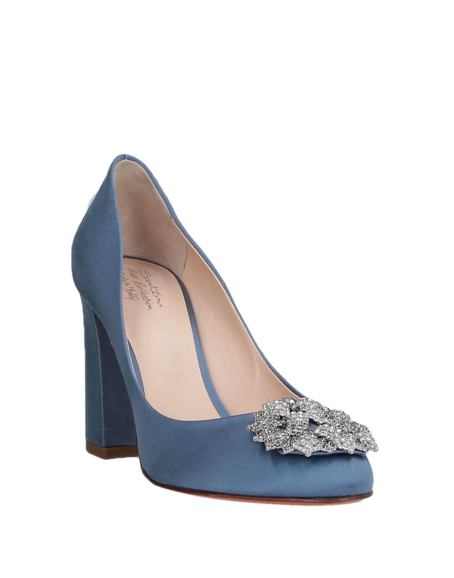 Zapatos de salón Santoni de Raso de color Azul