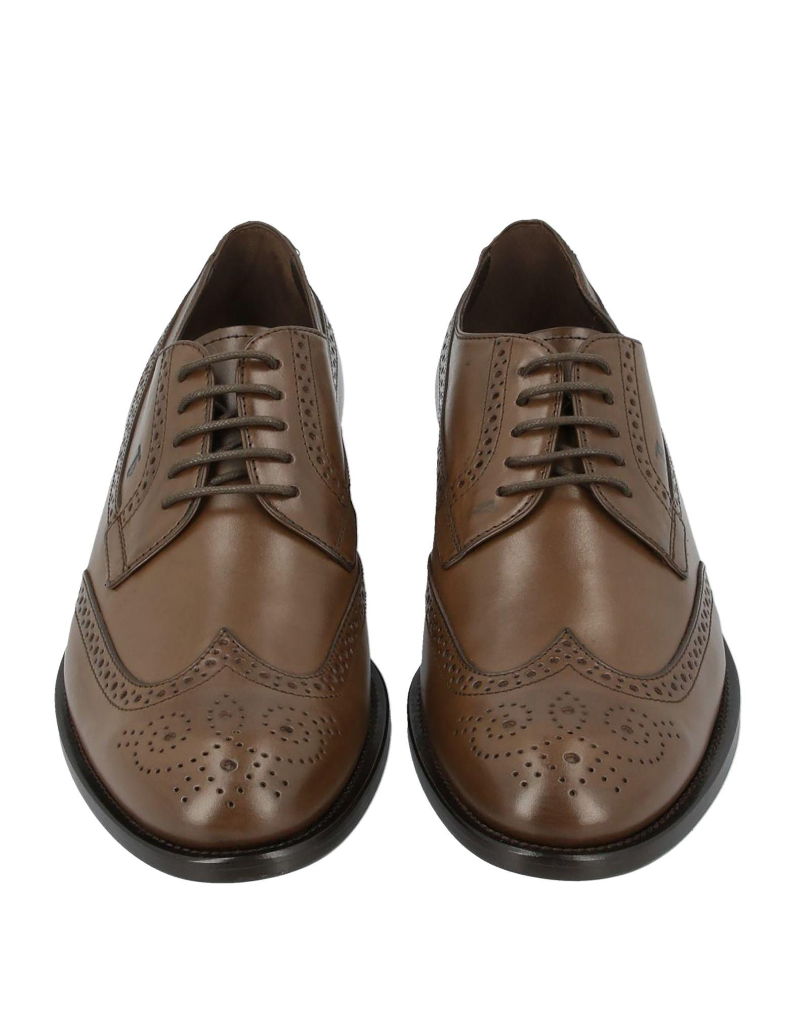 Zapatos de cordones Tod's de Cuero de color Marrón para hombre