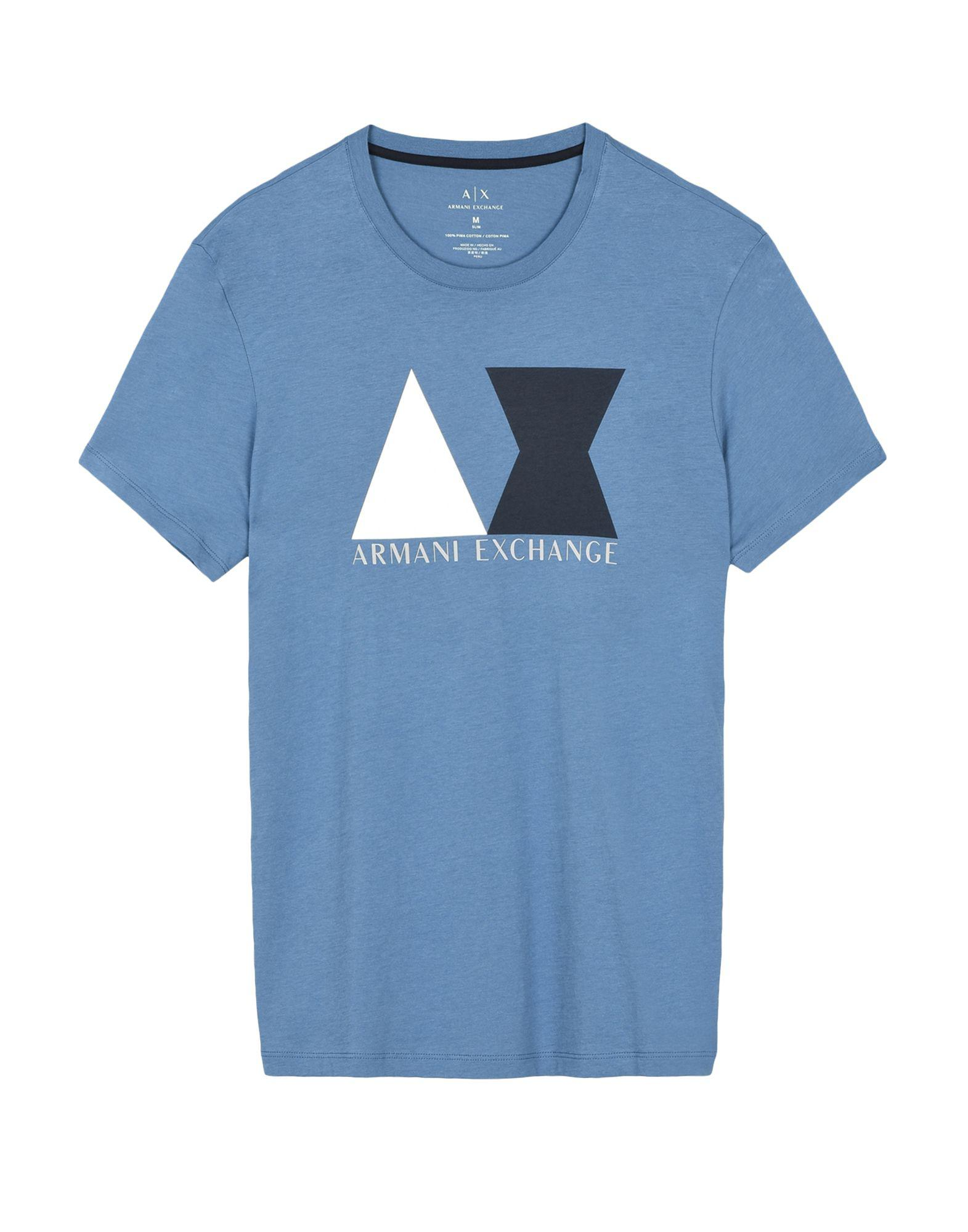 In Exchange Blue Lyst Men For Shirt Armani T Iwvq4