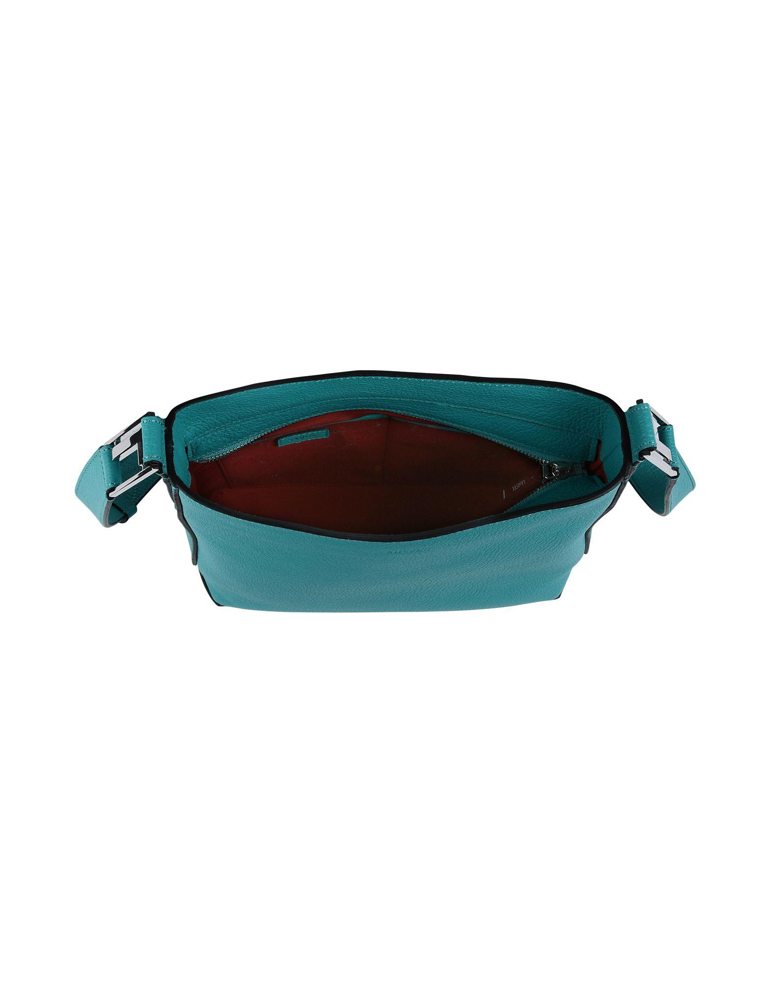 Lancel Leather Cross-body Bag in Turquoise (Blue)