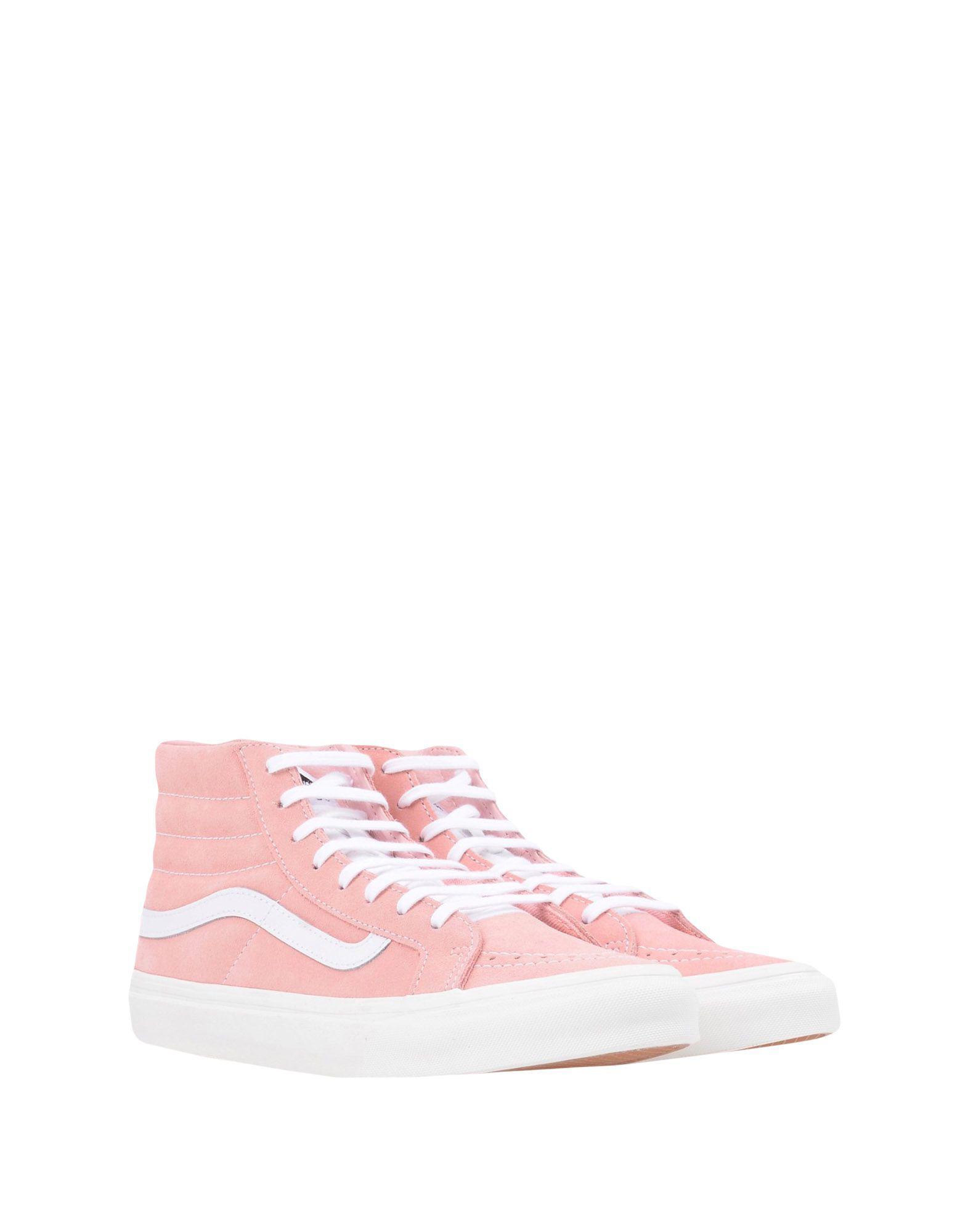Vans Leather High-tops & Sneakers in Pink