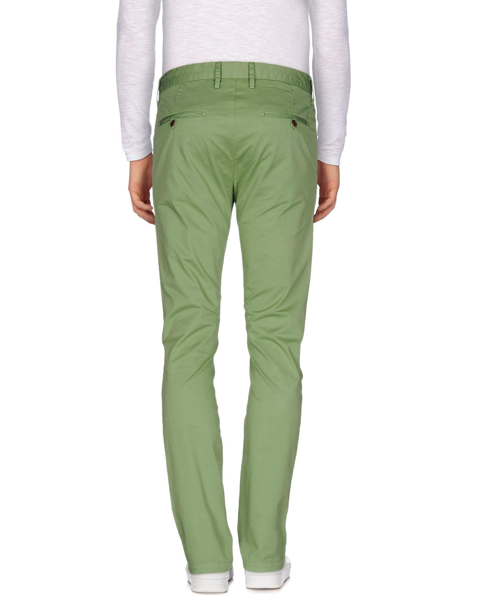 AT.P.CO Cotton Casual Trouser in Green (Yellow) for Men