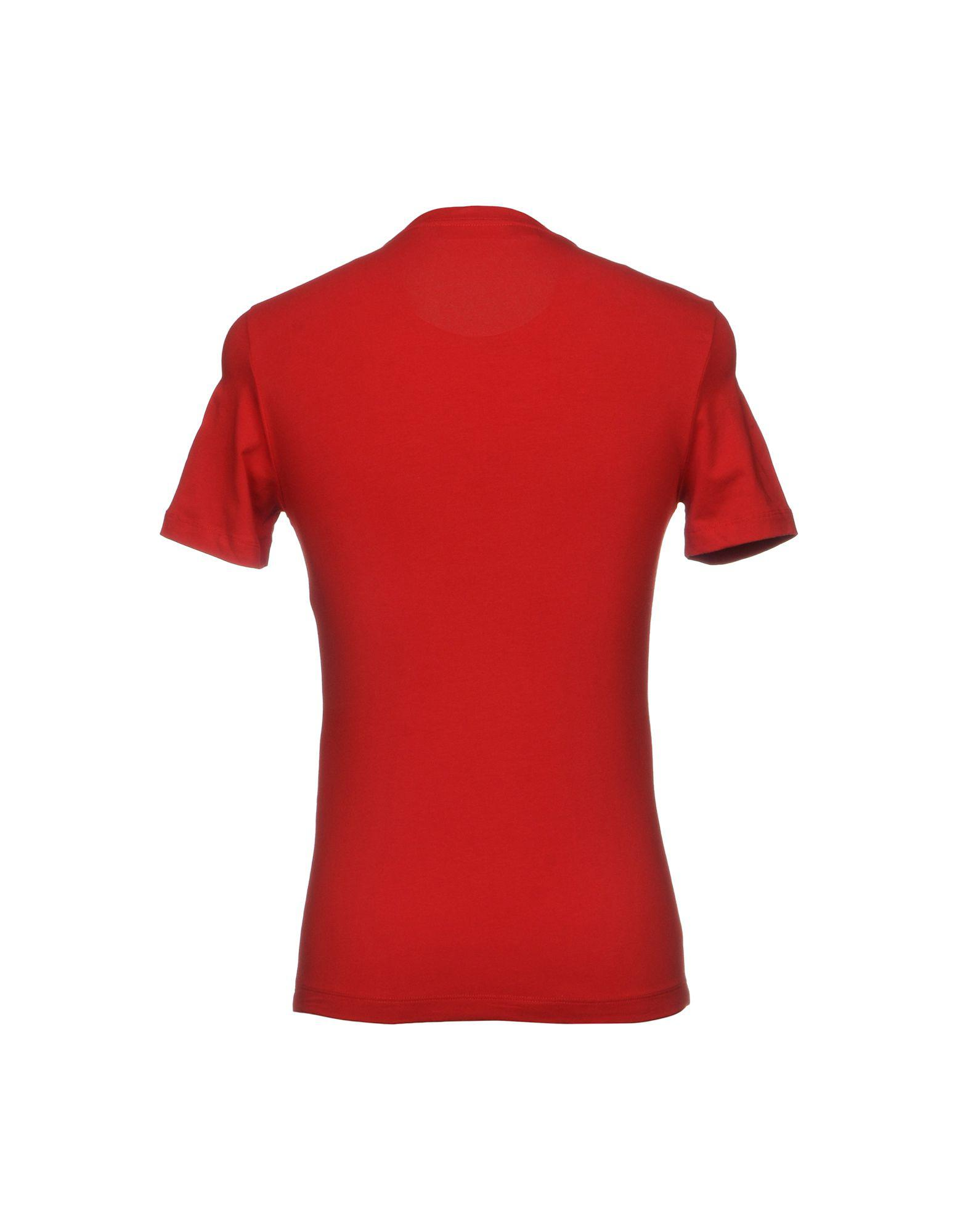 love moschino t shirt in red for men lyst. Black Bedroom Furniture Sets. Home Design Ideas