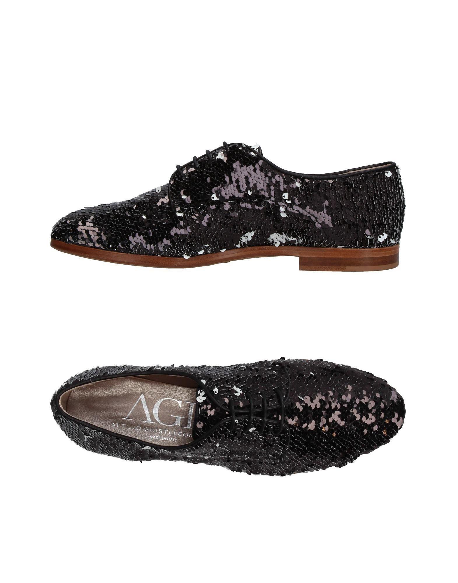 AGL ATTILIO GIUSTI LEOMBRUNI Flat lace up sneakers rNwU9s02
